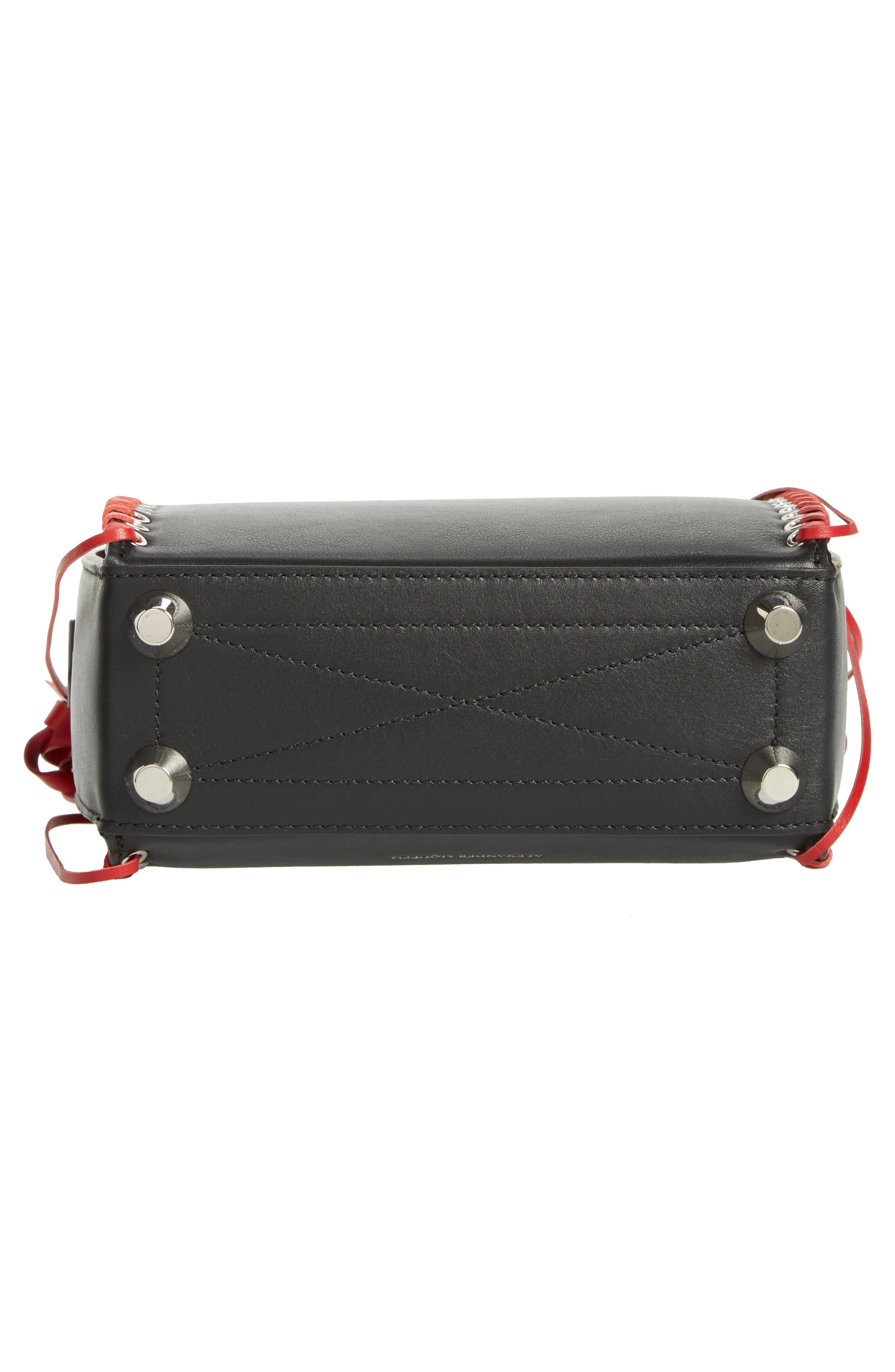 Box Bag 19 Calfskin Bag,                             Alternate thumbnail 7, color,                             Black/ Red