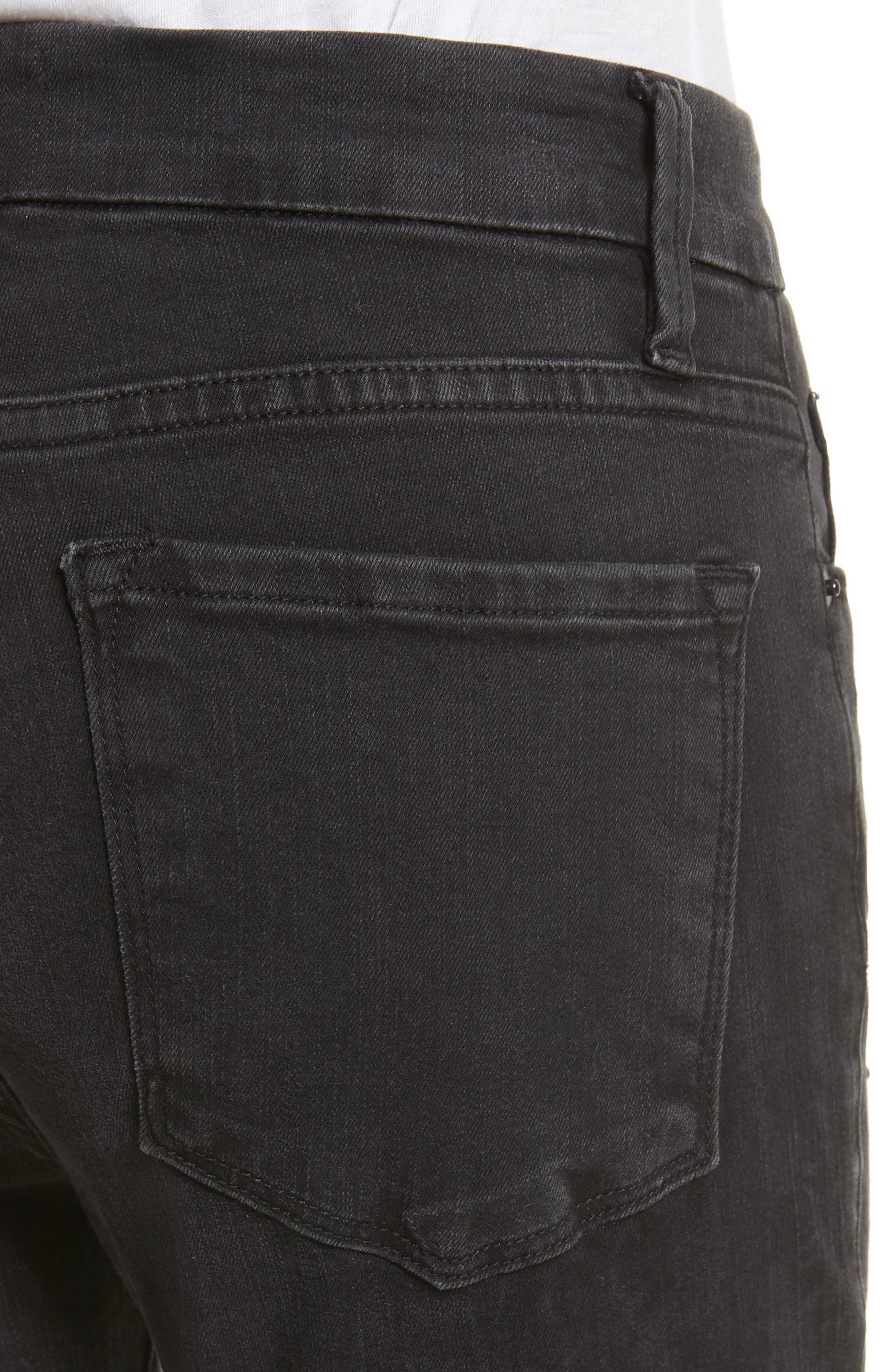 Alternate Image 4  - FRAME Raw Edge High Rise Embellished Crop Jeans (Mott Street)