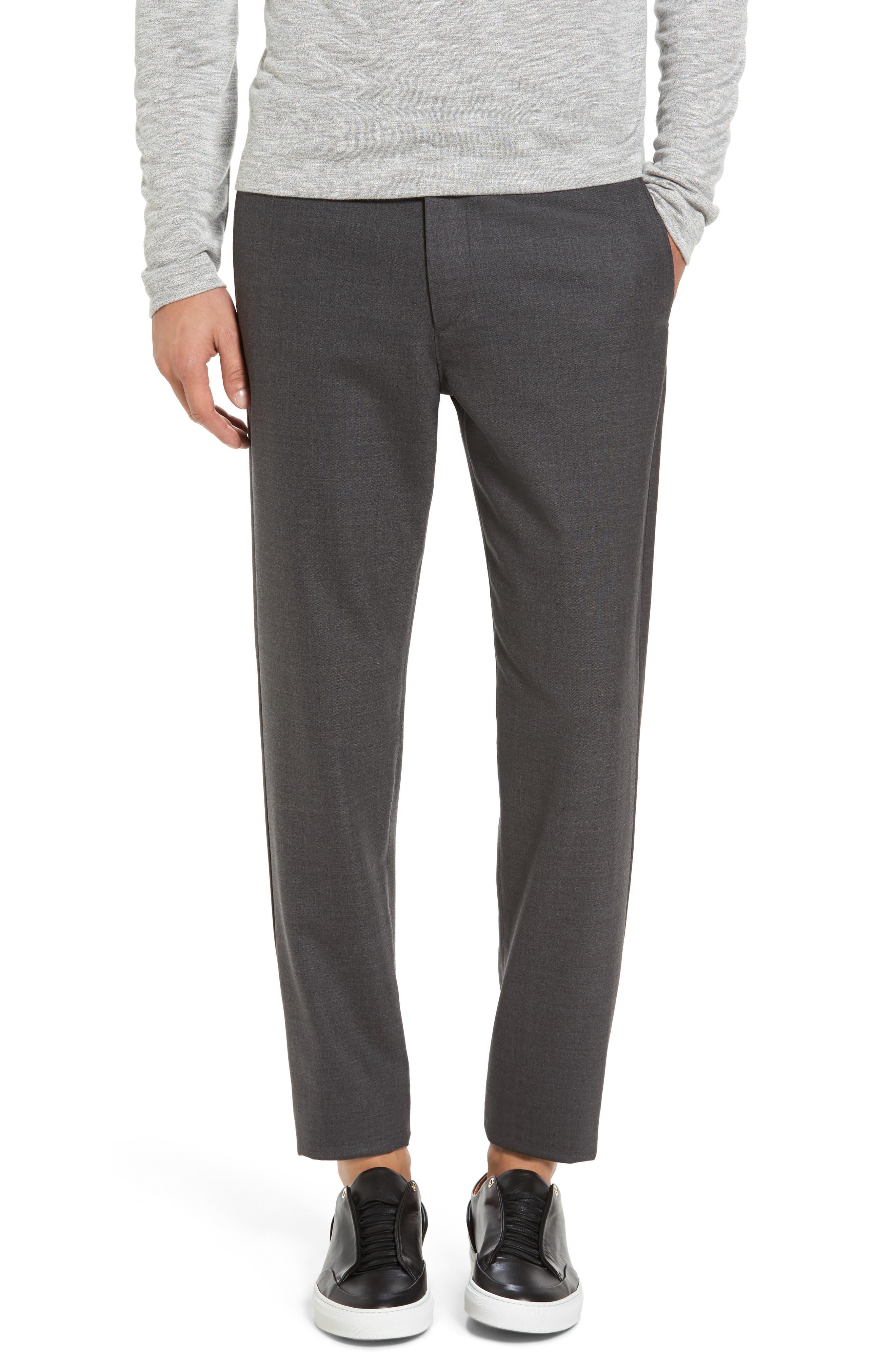 Zaine Gearheart Slim Straight Pants,                         Main,                         color, Medium Charcoal