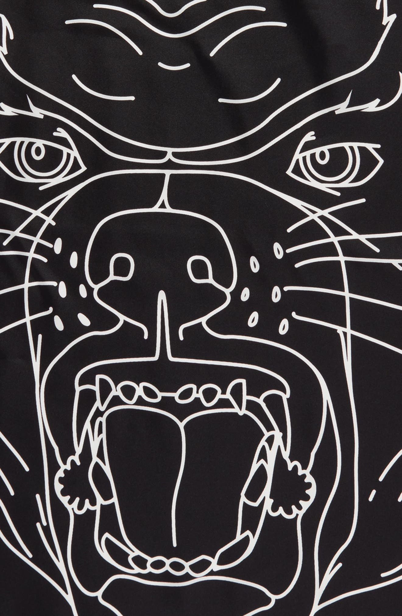 Rottweiler Silk Twill Scarf,                             Alternate thumbnail 4, color,                             Black/White