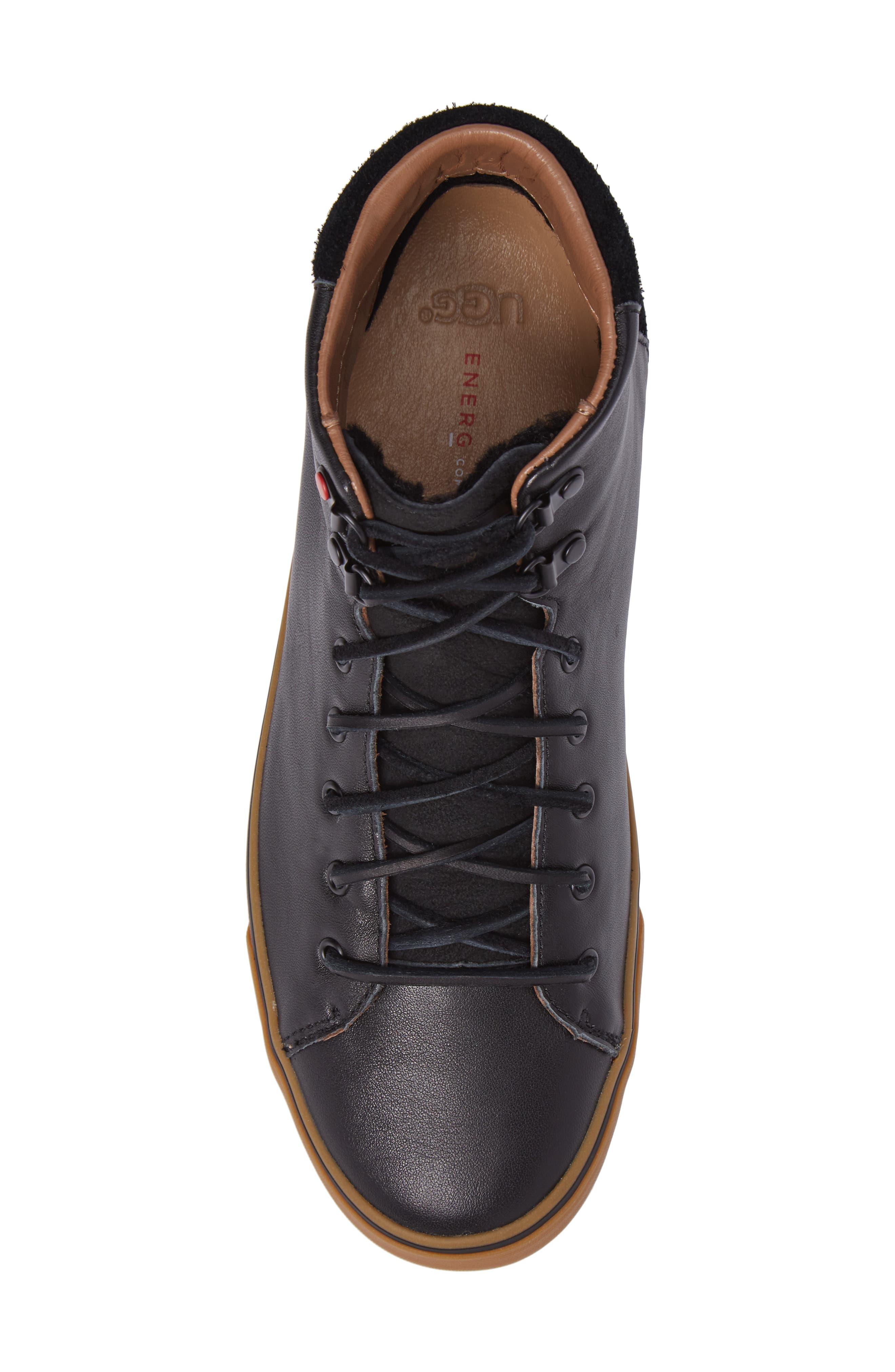 Alternate Image 5  - UGG® Hoyt Luxe Genuine Shearling High Top Sneaker (Men)