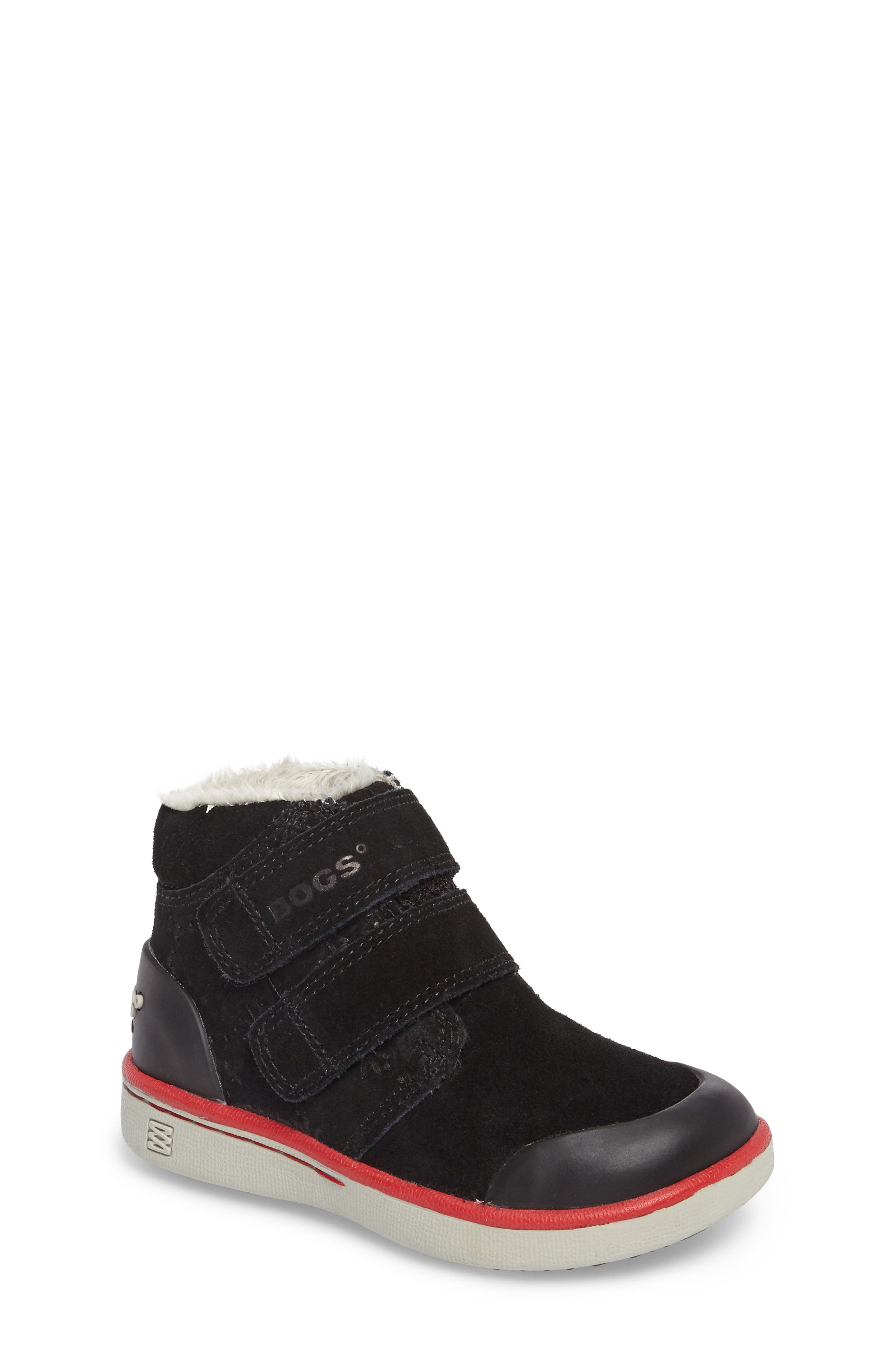 Samantha Faux Fur Waterproof Boot,                             Main thumbnail 1, color,                             Black/ Black