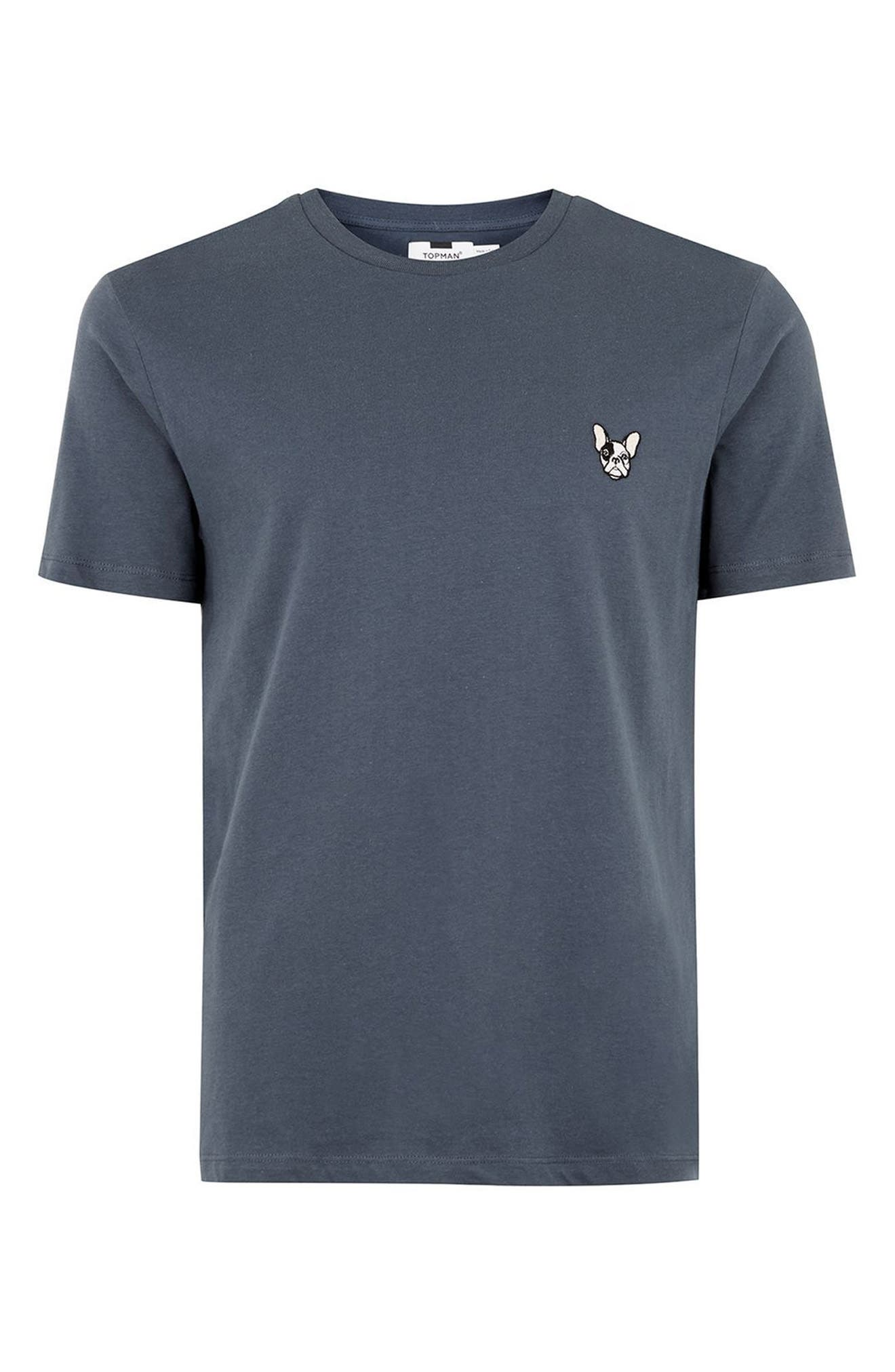 Topman Frenchie Patch T-Shirt