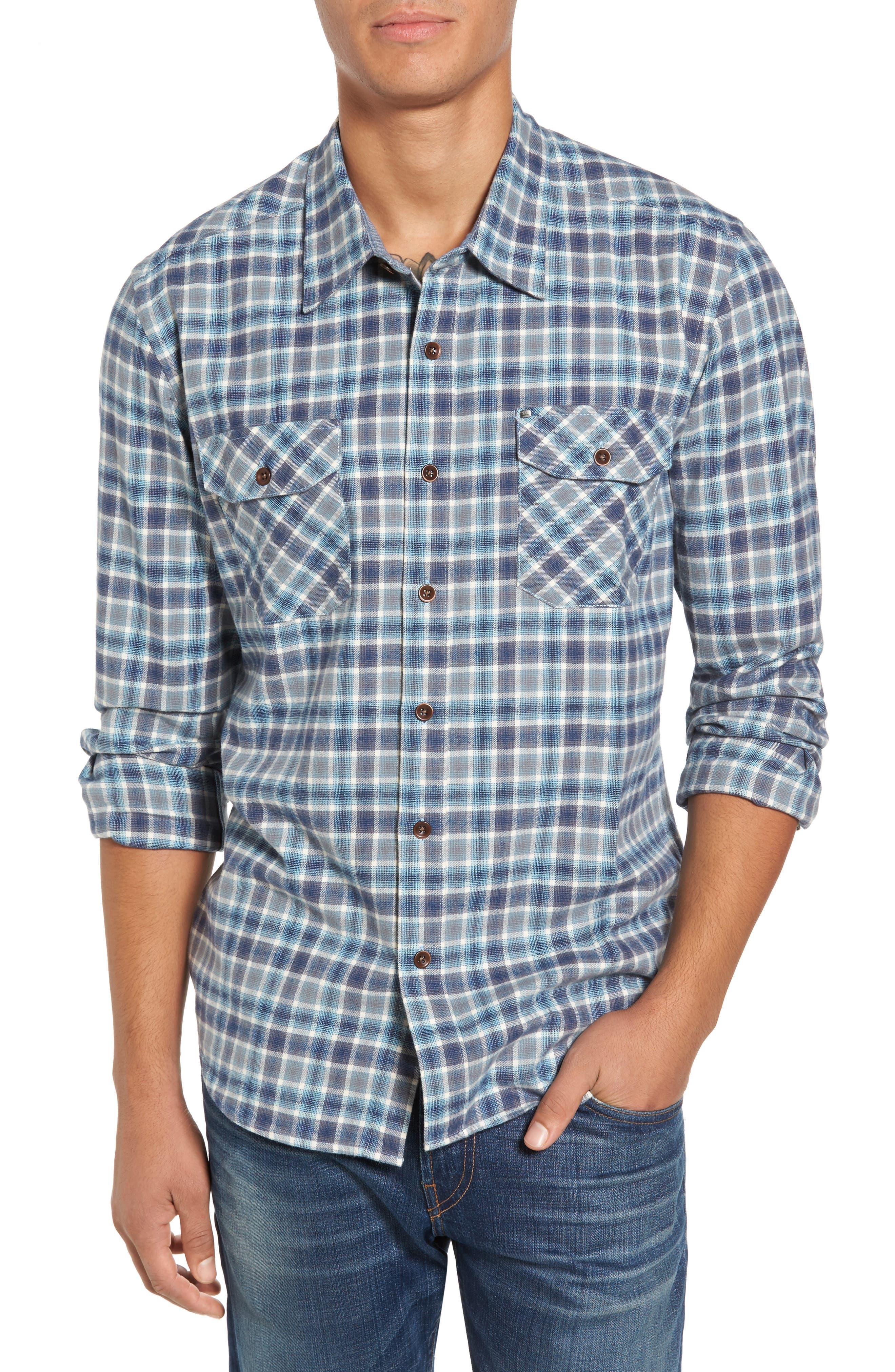 Cova Stinsons Beach Regular Fit Plaid Flannel Shirt