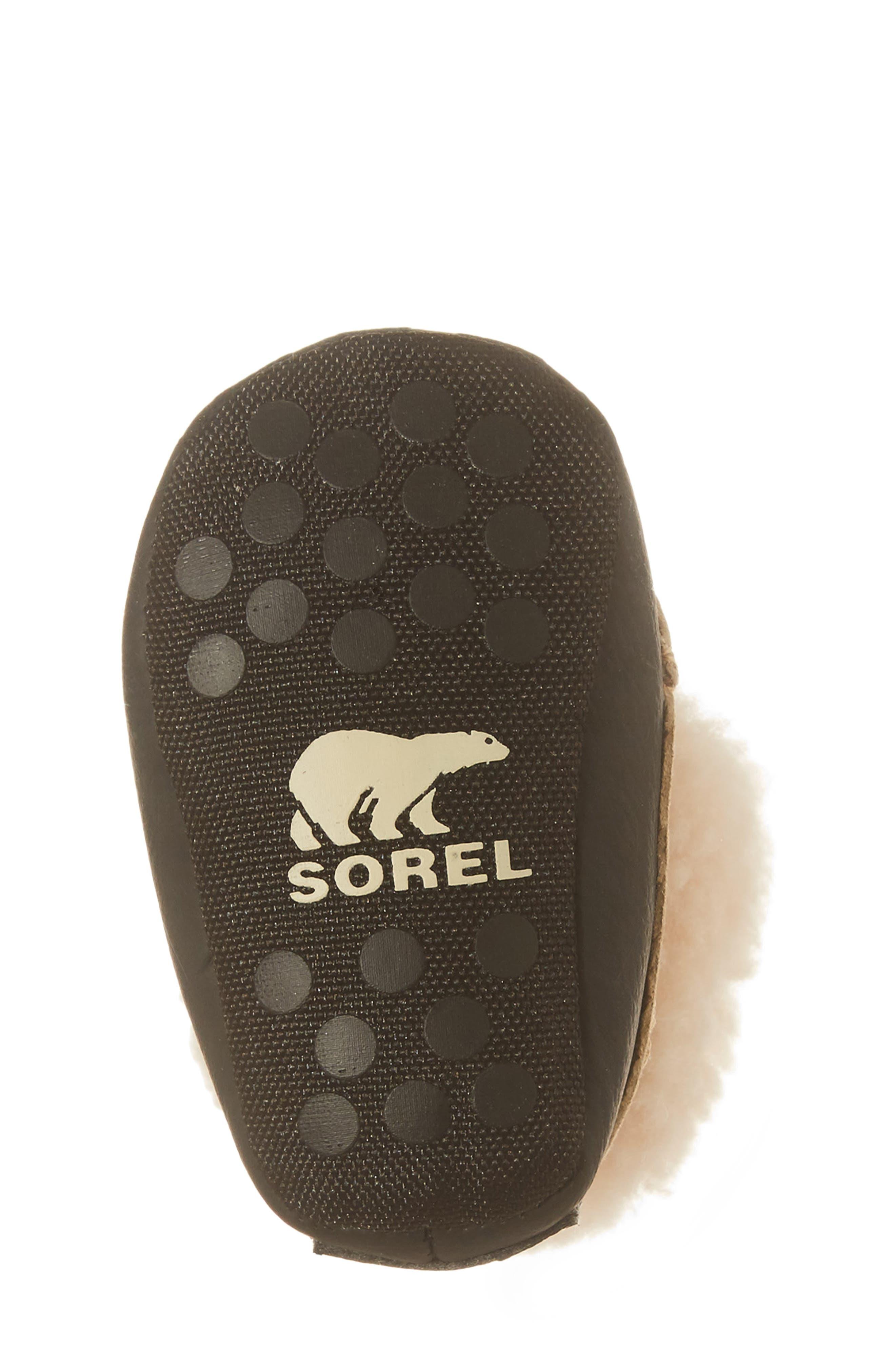 Alternate Image 6  - SOREL Caribootie Genuine Shearling Crib Shoe (Baby)