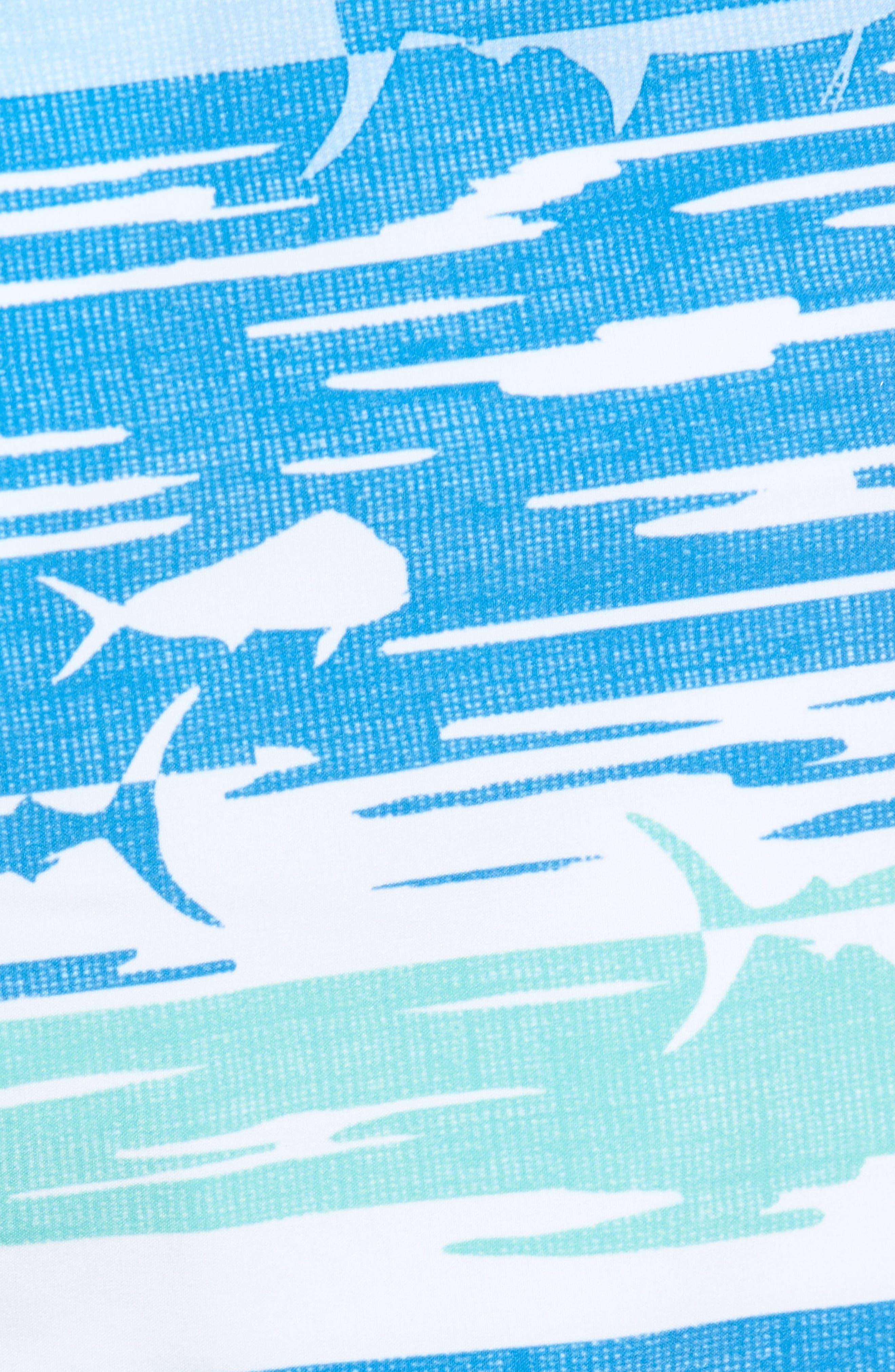 At Sea Scenic Board Shorts,                             Alternate thumbnail 5, color,                             Deep Bay