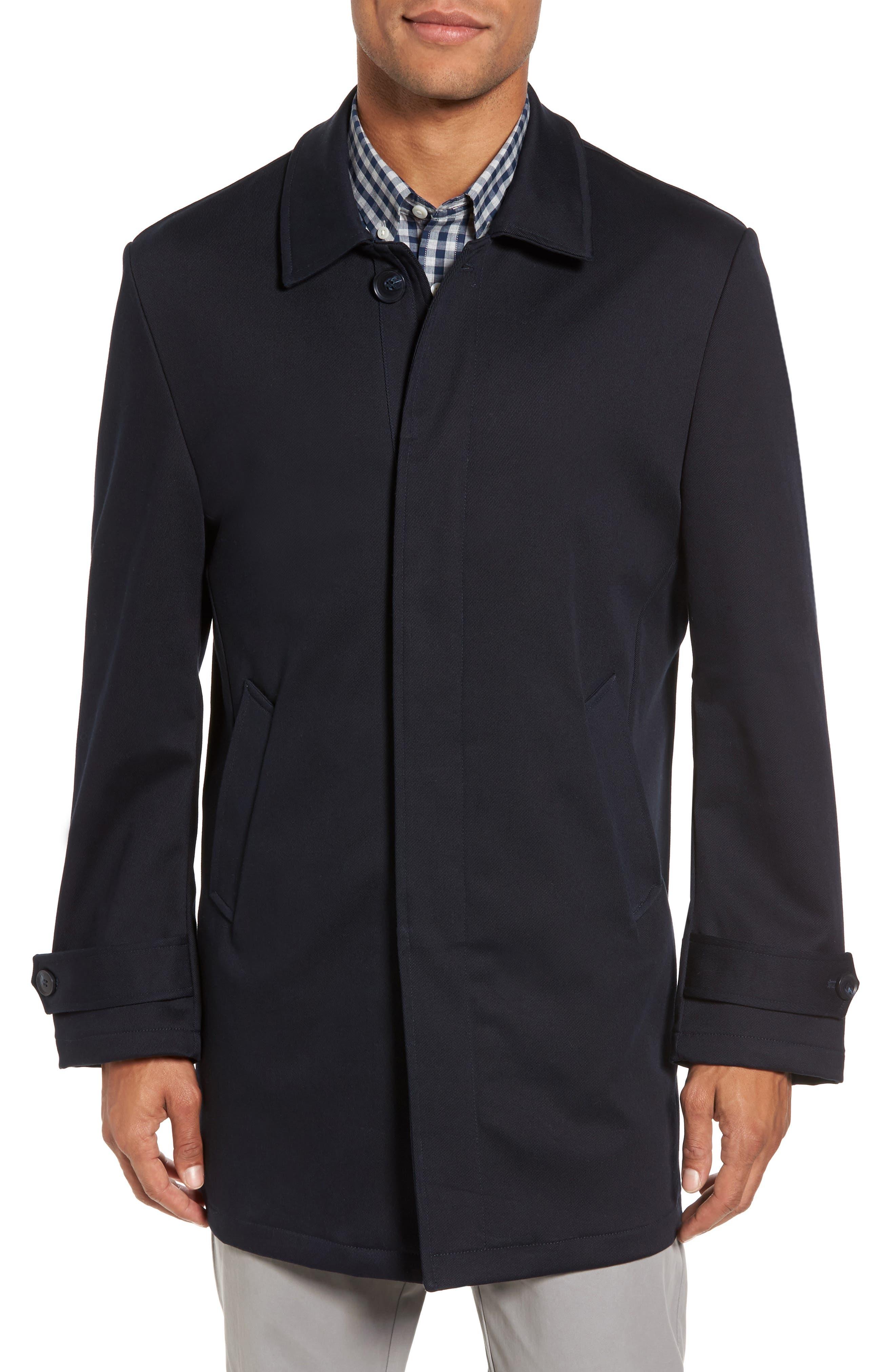 Alternate Image 4  - Nordstrom Men's Shop Grayson Stretch Cotton Blend Car Coat