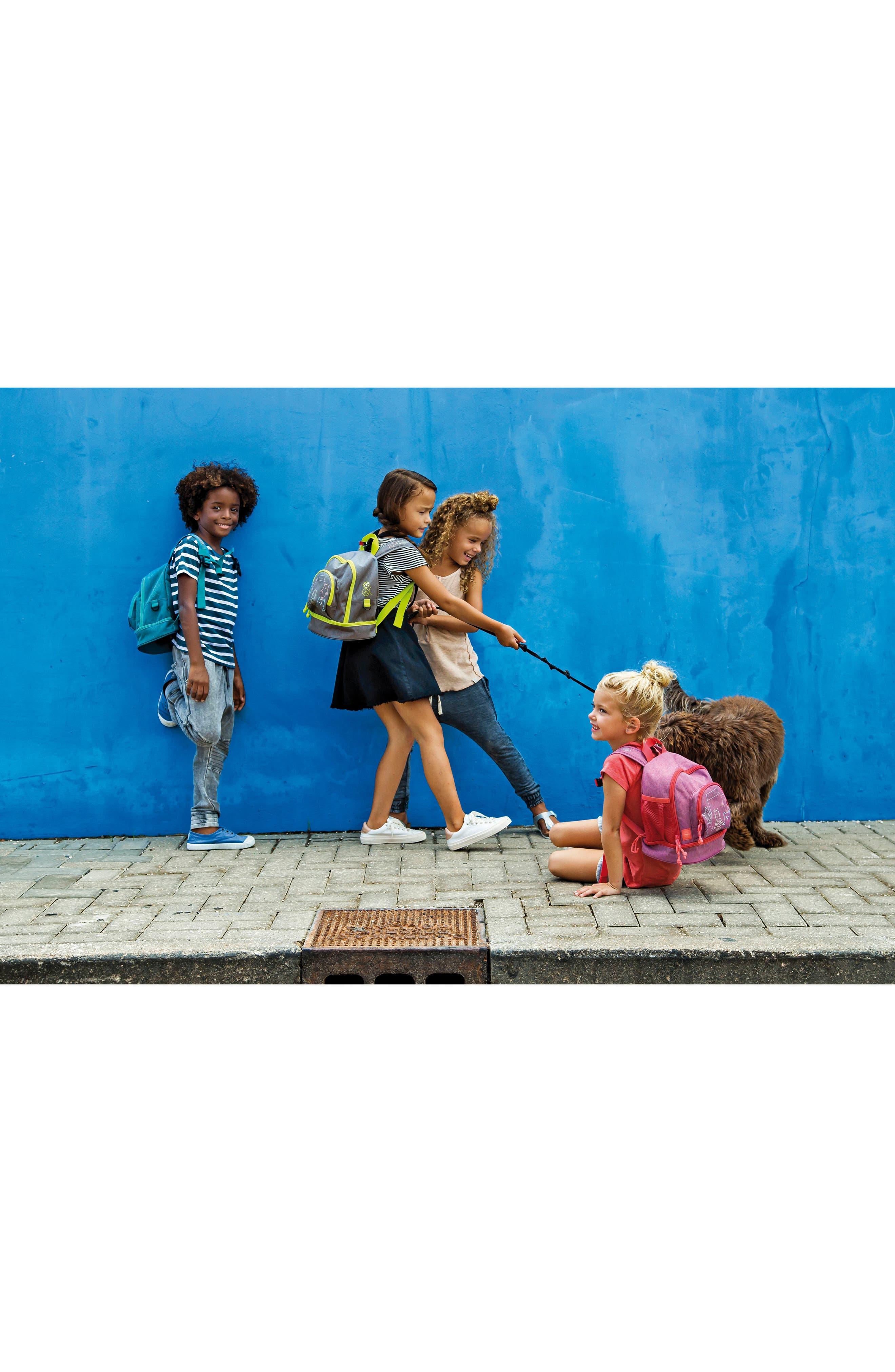 Mini About Friends Duffel Bag,                             Alternate thumbnail 4, color,                             Melange Grey