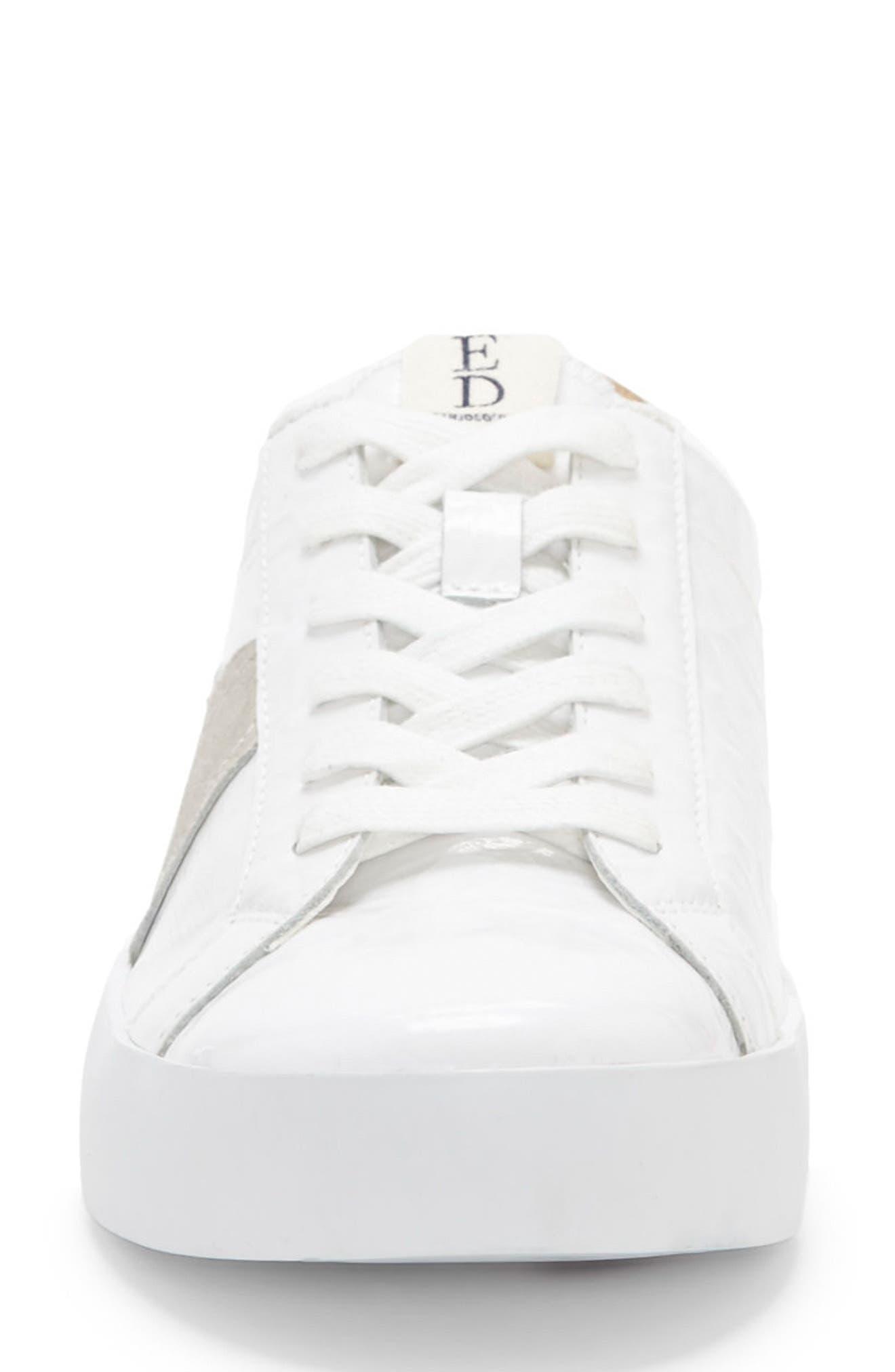 Gillen Sneaker,                             Alternate thumbnail 4, color,                             Pure White Crinkled Patent