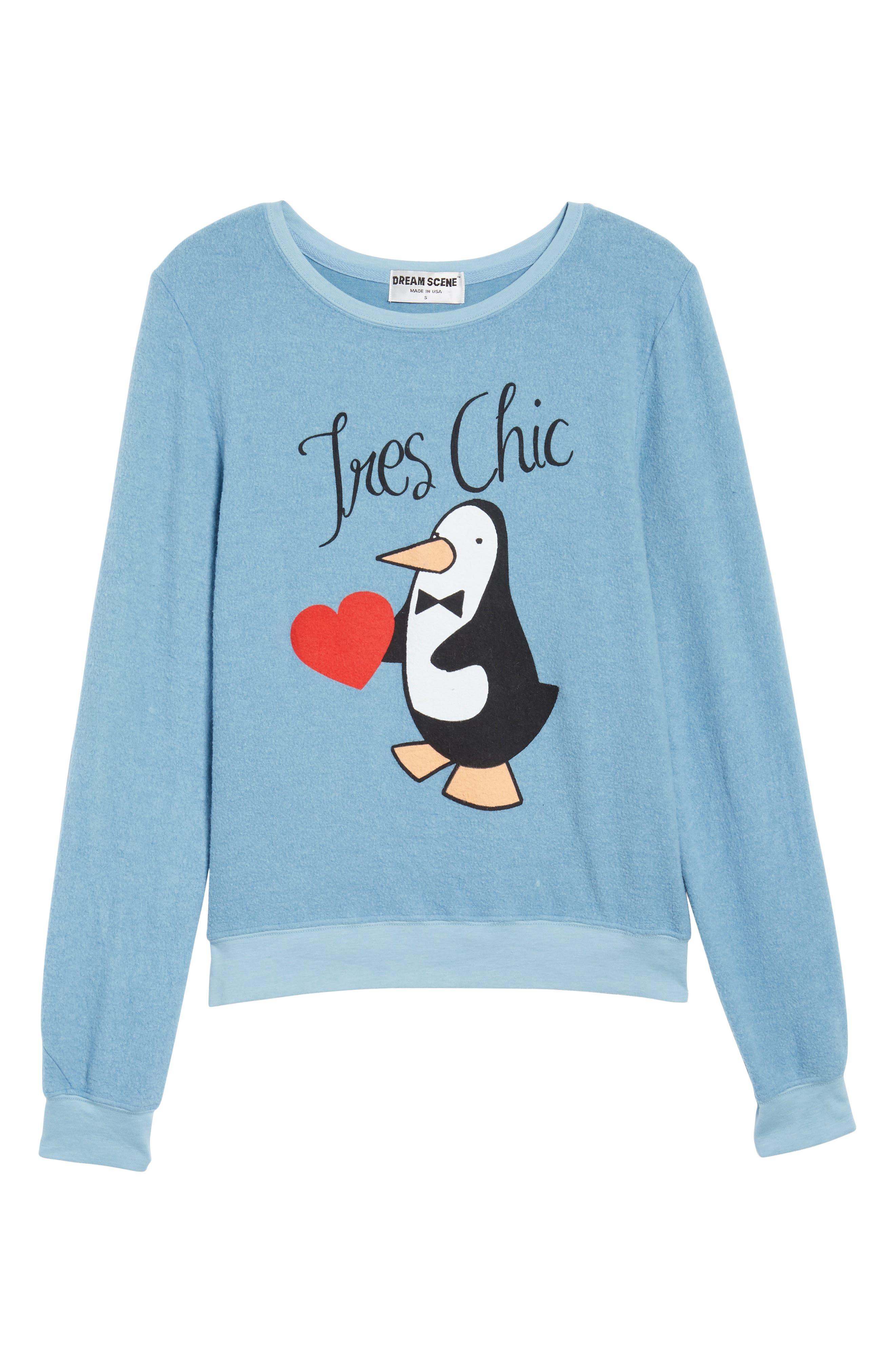 Très Chic Sweatshirt,                             Alternate thumbnail 6, color,                             Dahlia