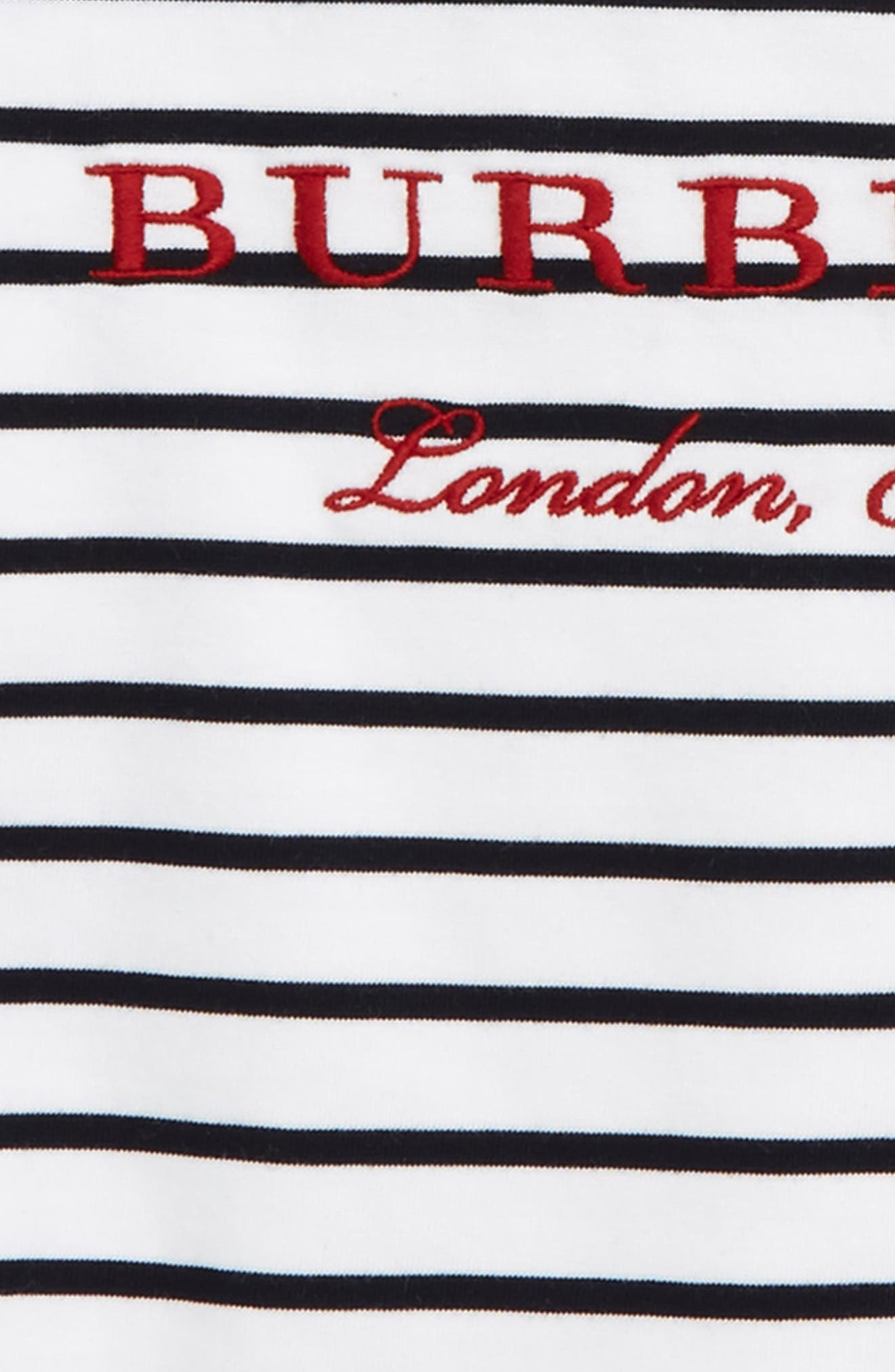 Alternate Image 2  - Burberry Mini Peggy Embroidered Tee (Baby Girls)