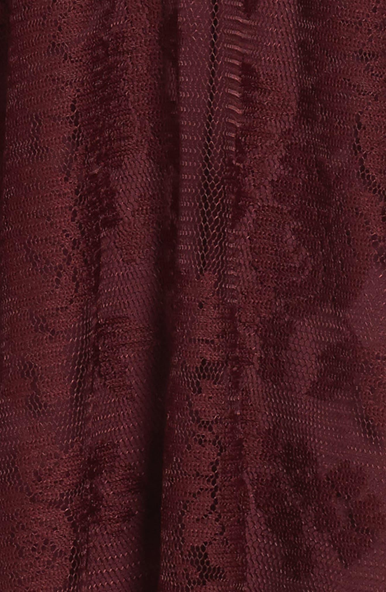 Winona Lace Dress,                             Alternate thumbnail 3, color,                             Burgandy