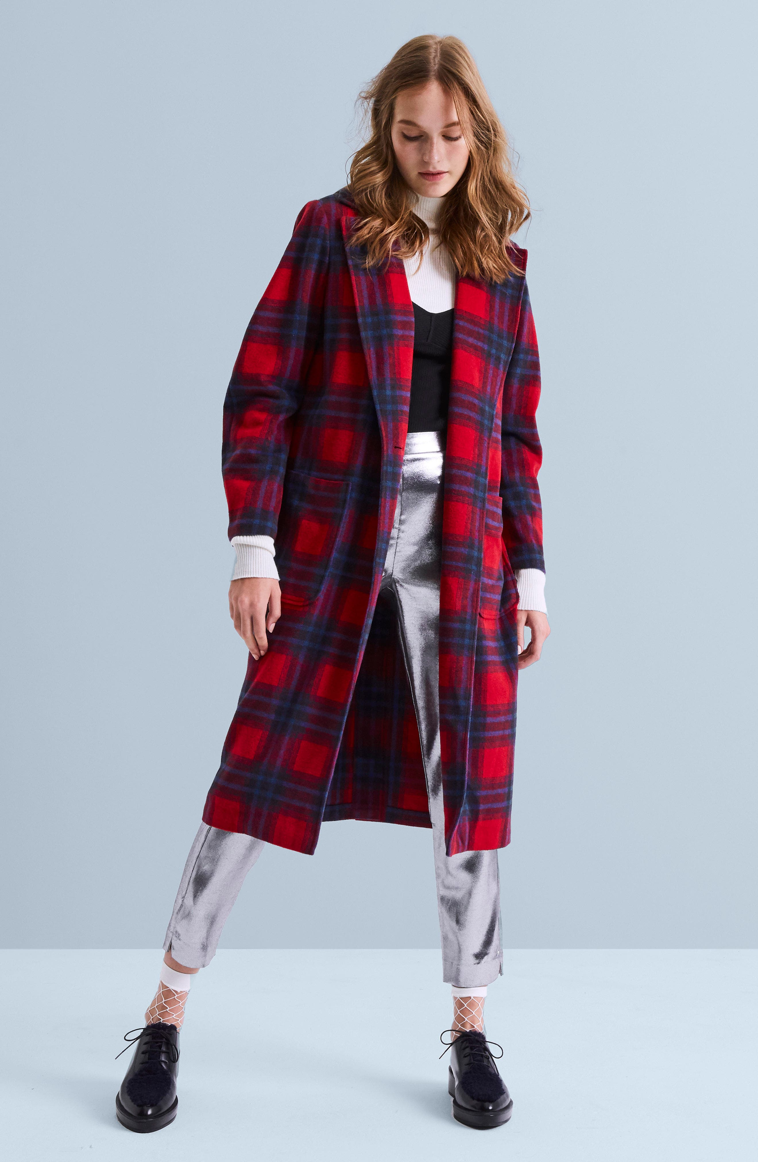 Alternate Image 2  - Leith Single Button Plaid Coat