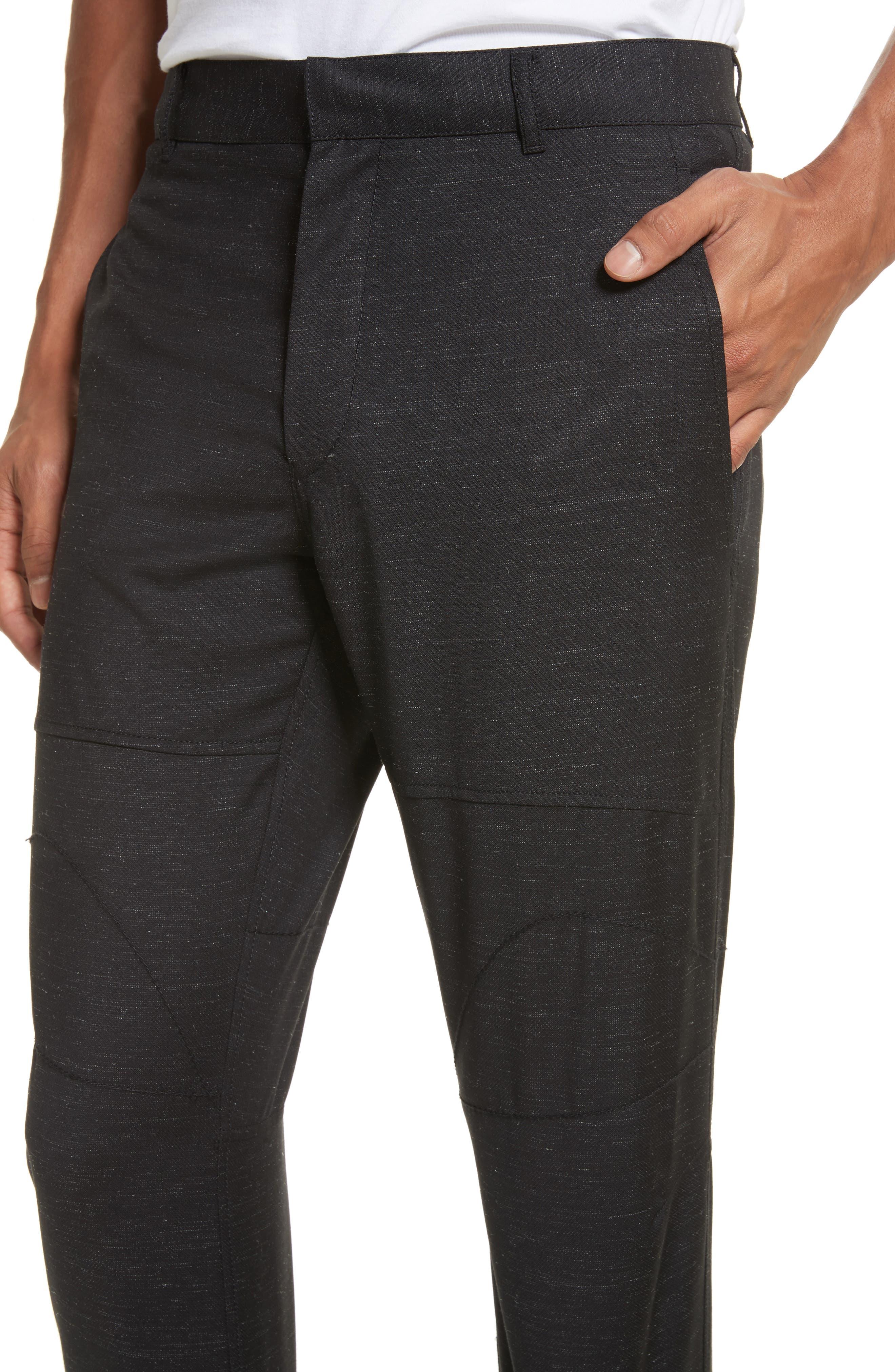 Biker Trousers,                             Alternate thumbnail 4, color,                             Black