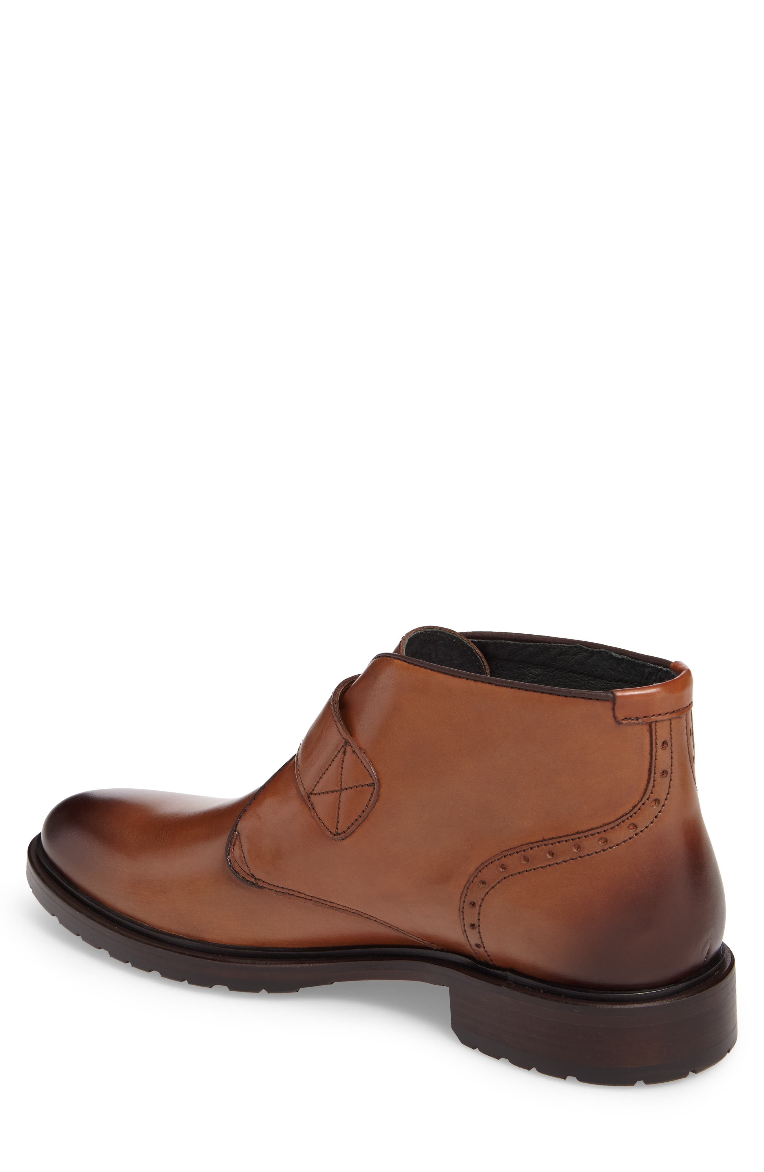 Myles Monk Strap Boot,                             Alternate thumbnail 2, color,                             Cognac Leather