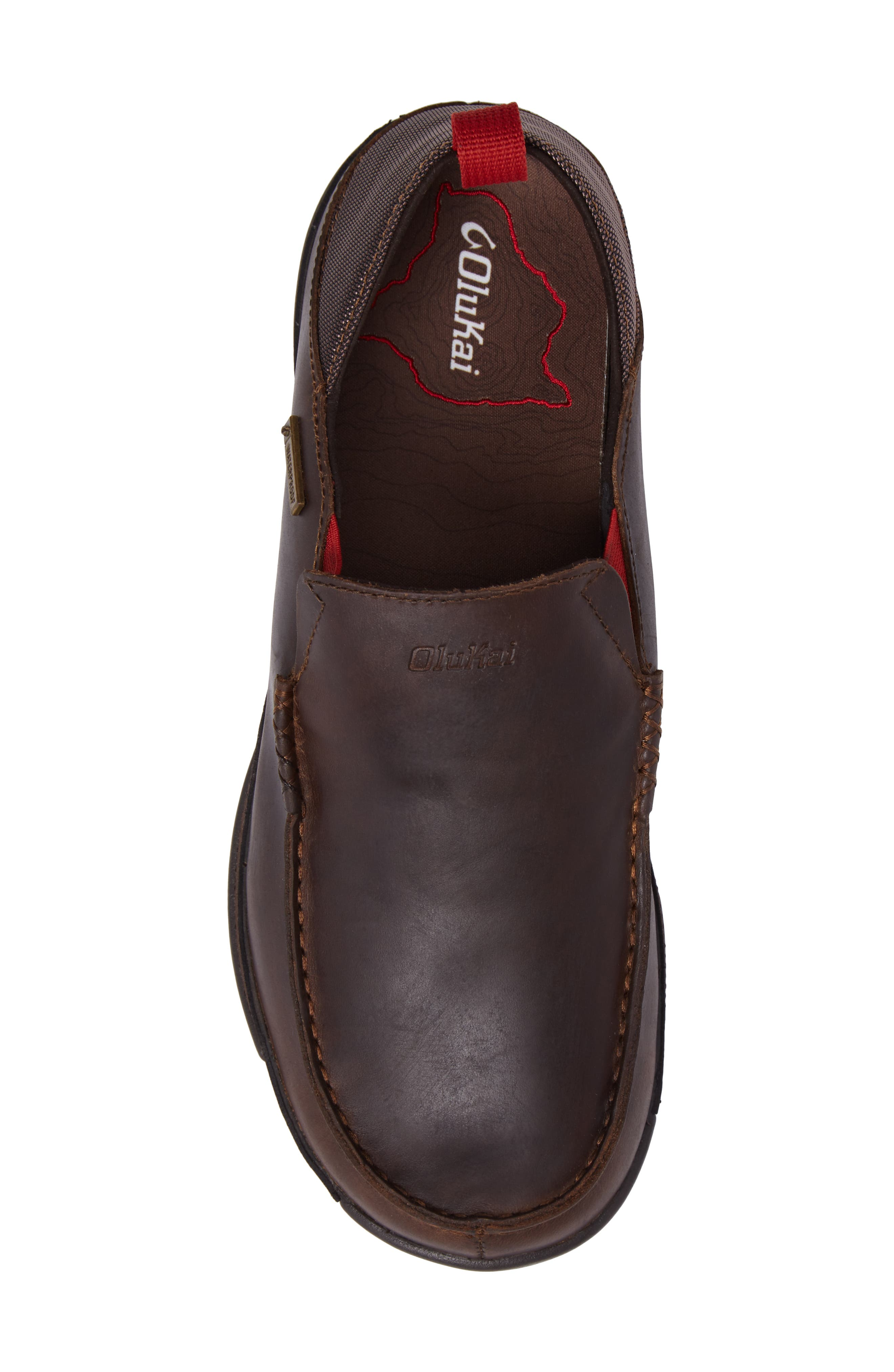 Na'I Collapsible Waterproof Slip-On,                             Alternate thumbnail 5, color,                             Carob/ Dark Wood Leather
