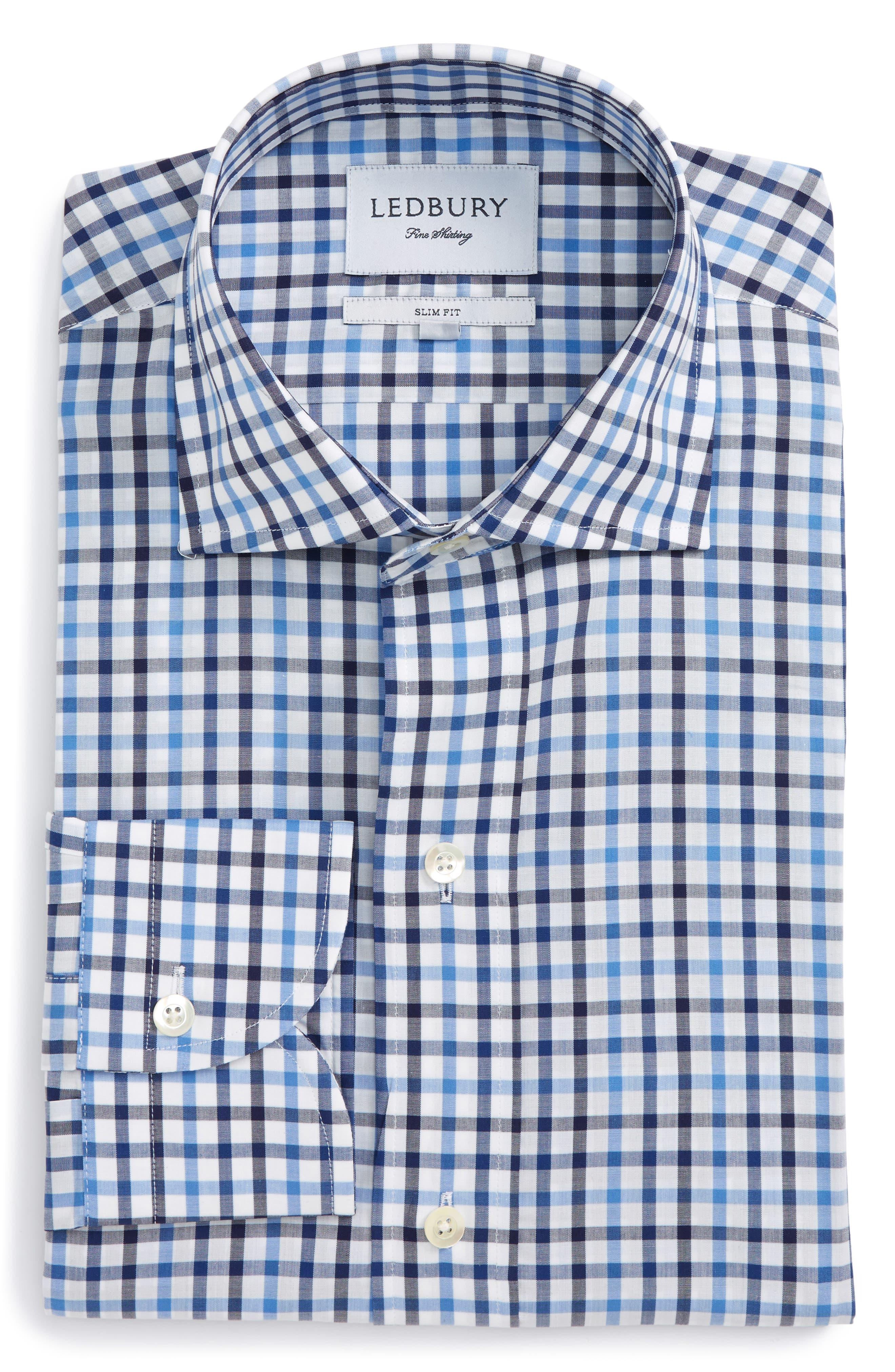 Ledbury The Beecher Slim Fit Gingham Dress Shirt