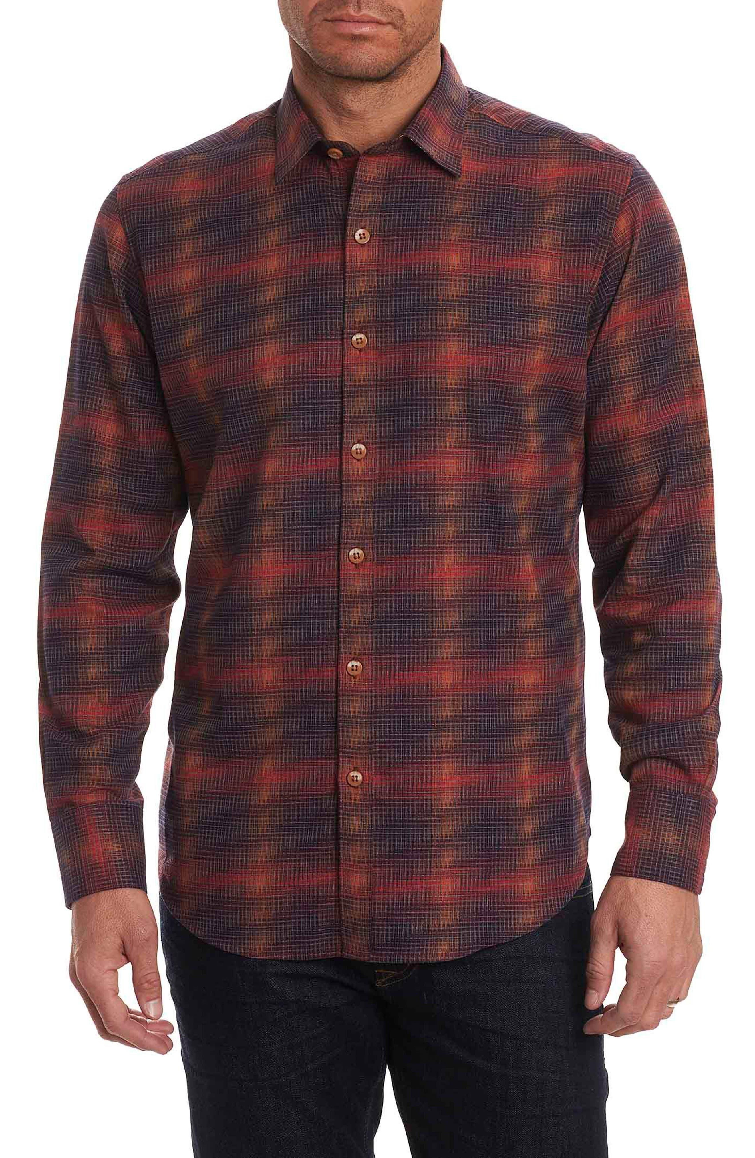 Lumberman Tailored Fit Sport Shirt,                             Main thumbnail 1, color,                             Red