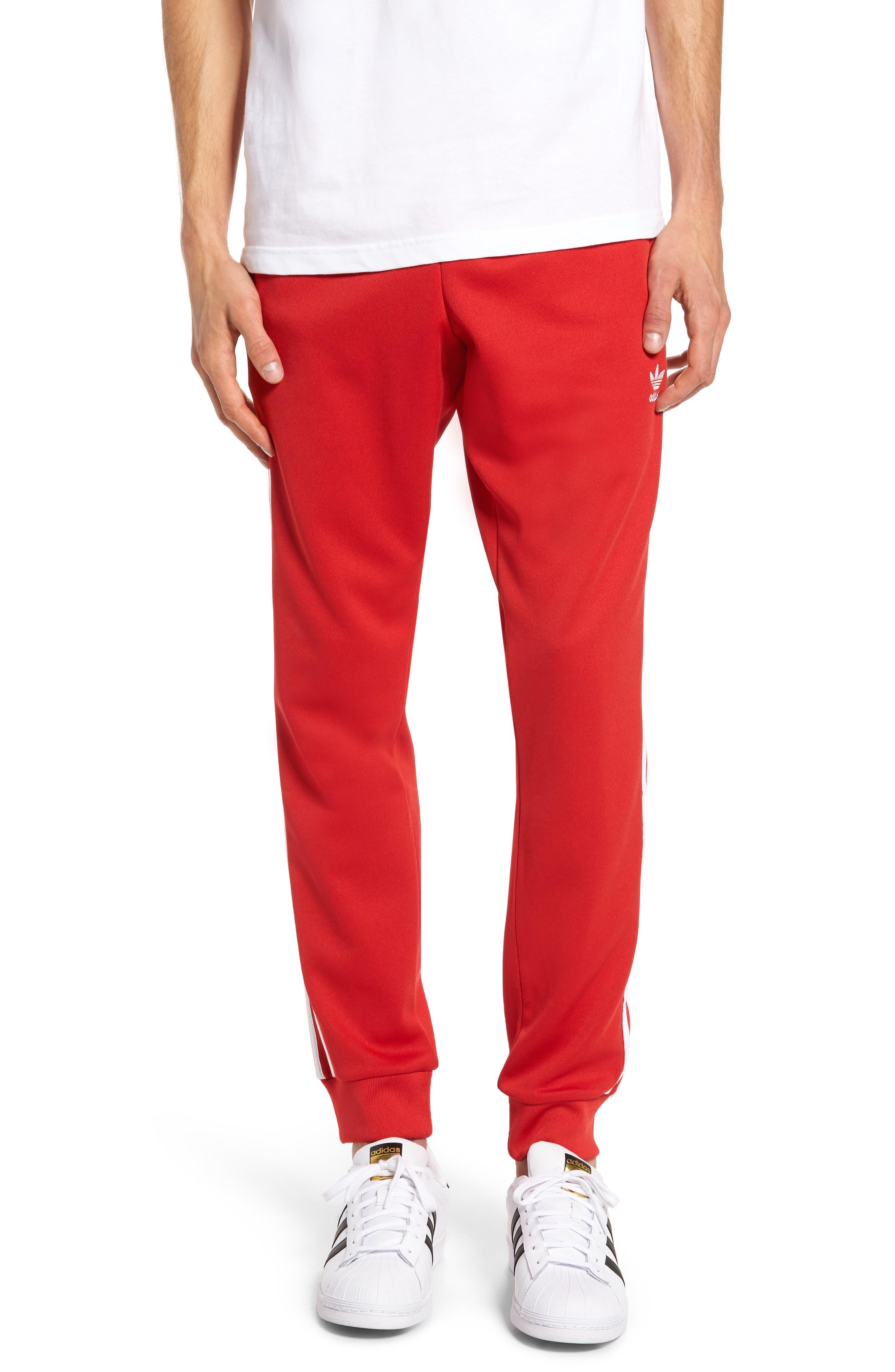 Track Pants,                         Main,                         color, Scarlet