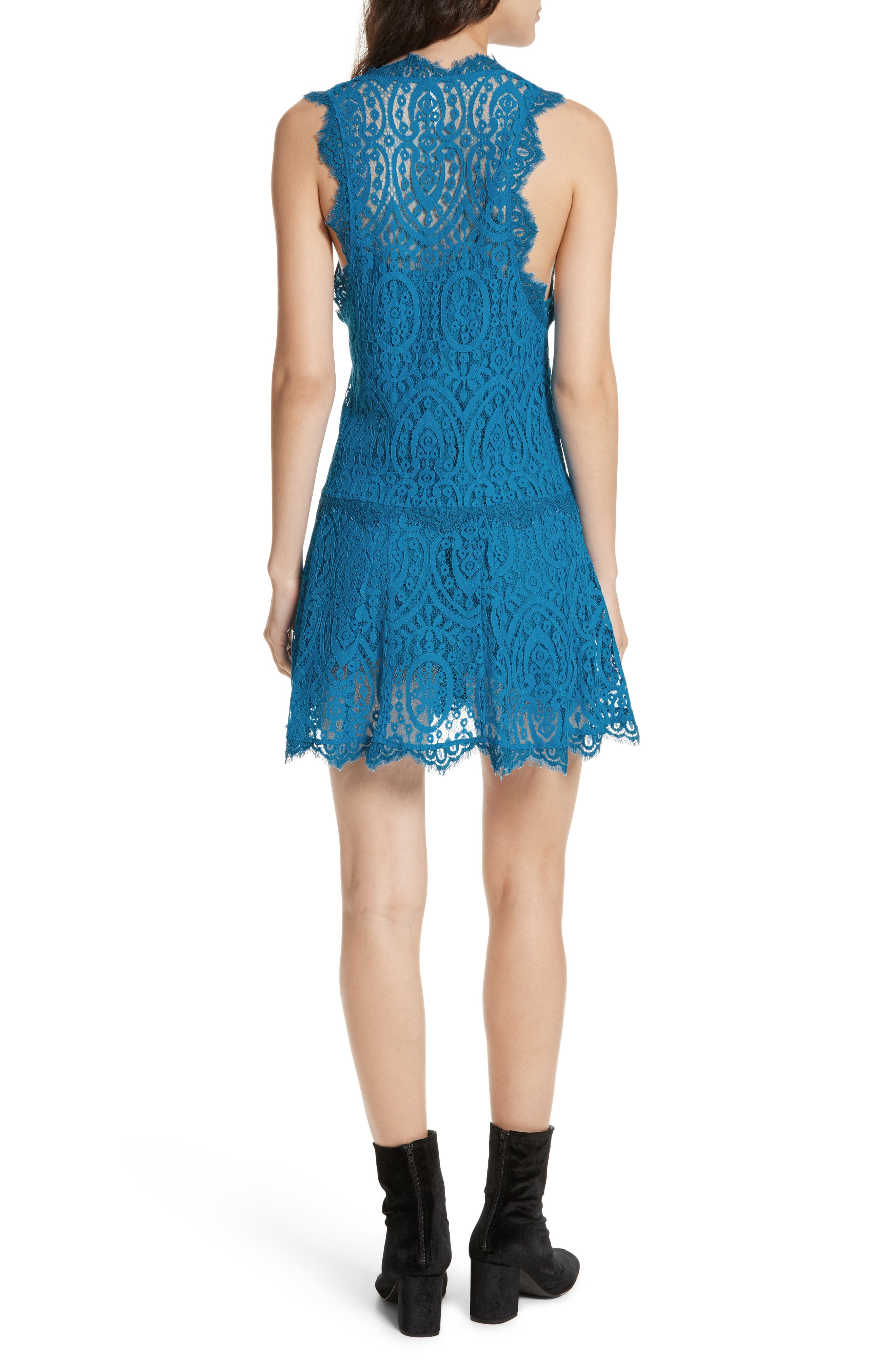 Alternate Image 2  - Free People Heart in Two Lace Minidress