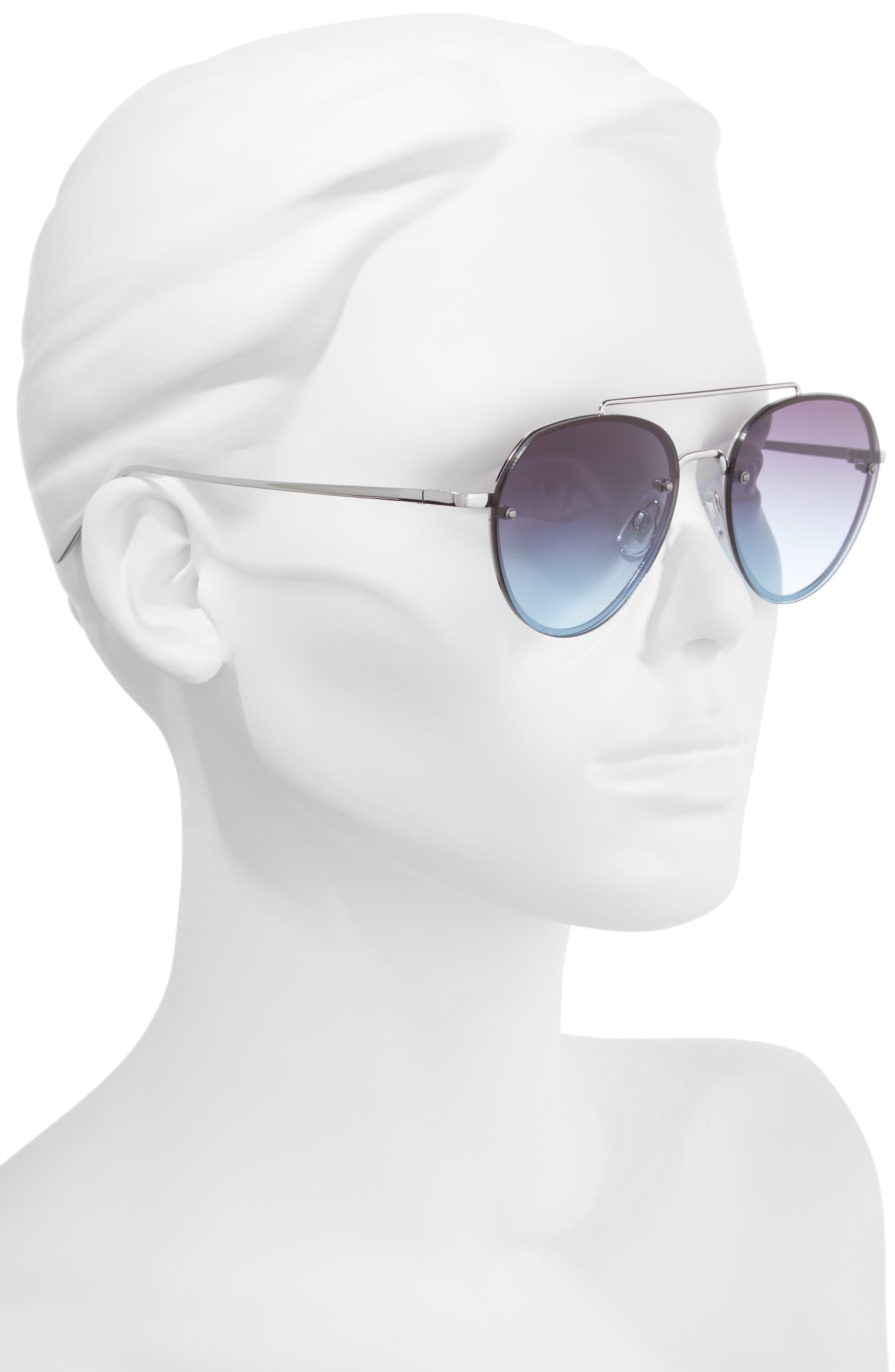 Alternate Image 2  - BP. Gradient Petite Aviator Sunglasses