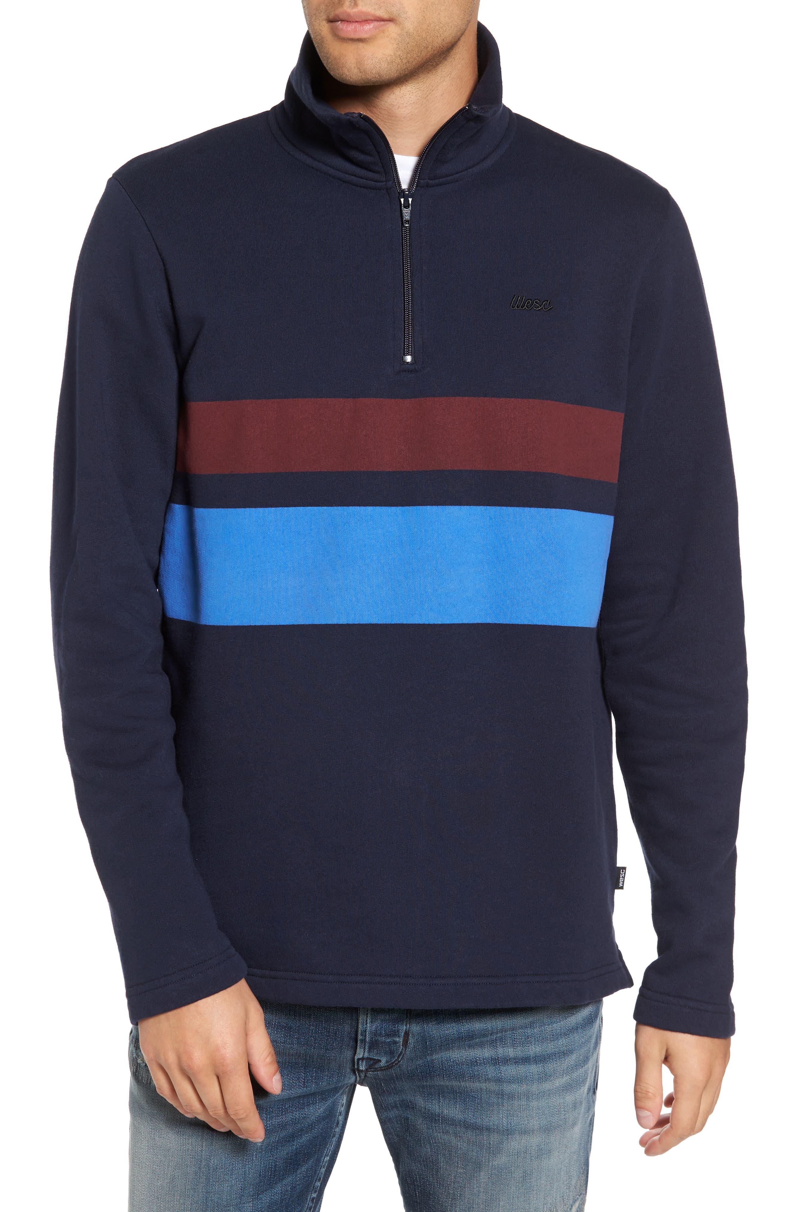 WeSC Malte Fleece Quarter Zip Pullover