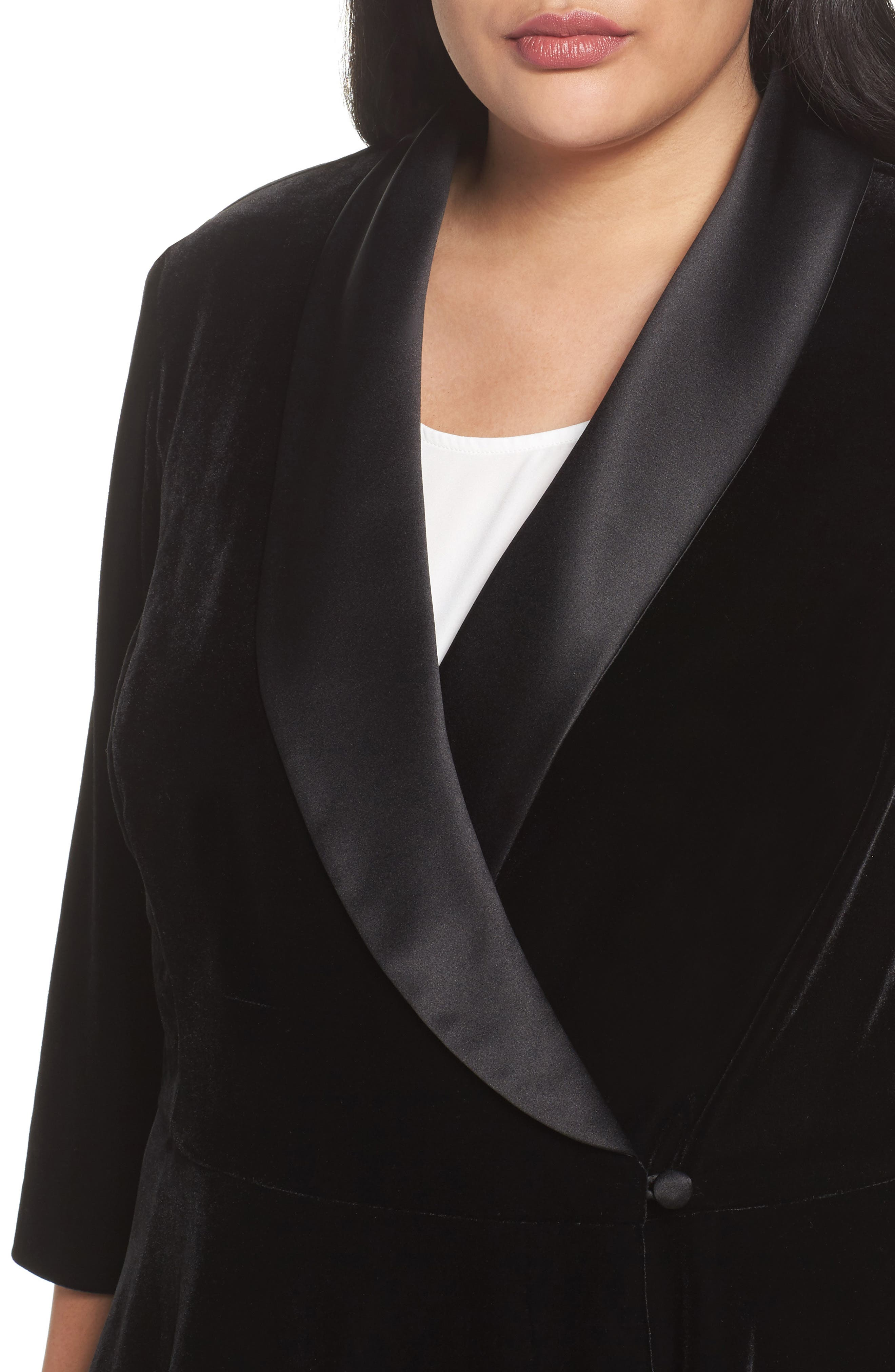 Alternate Image 4  - Alex Evenings Stretch Velvet Blouse (Plus Size)