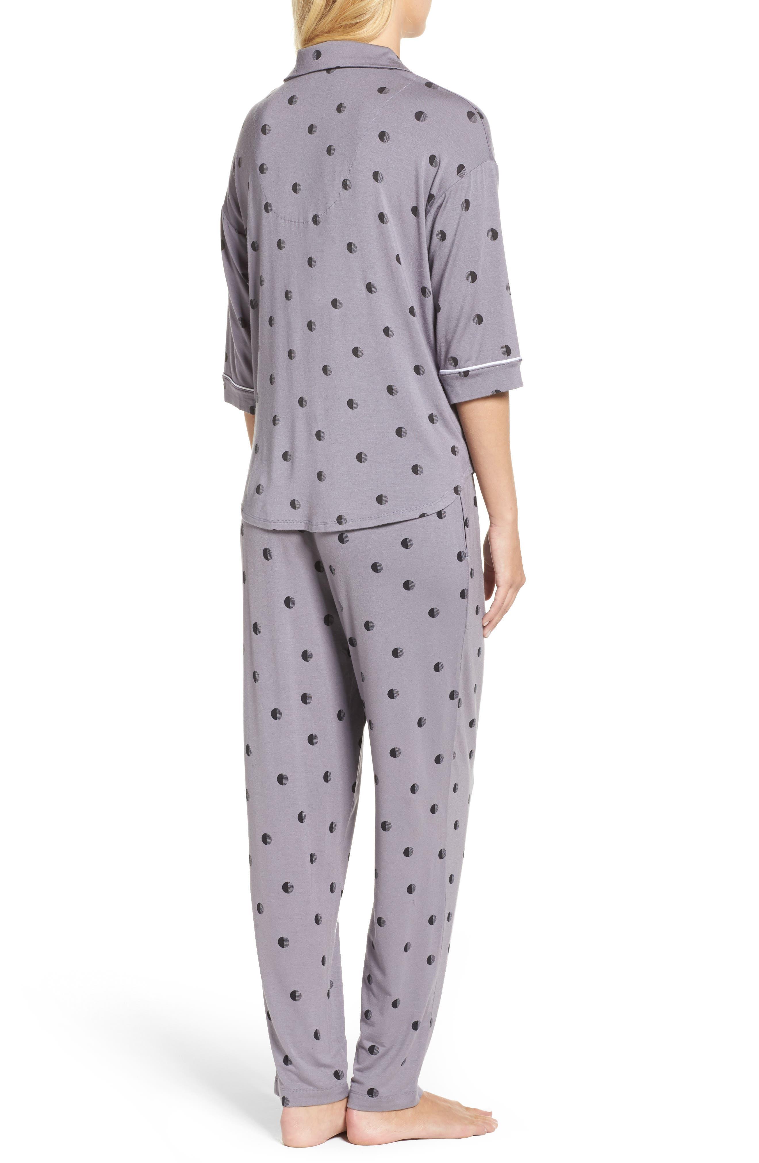 Alternate Image 2  - DKNY Jersey Pajamas