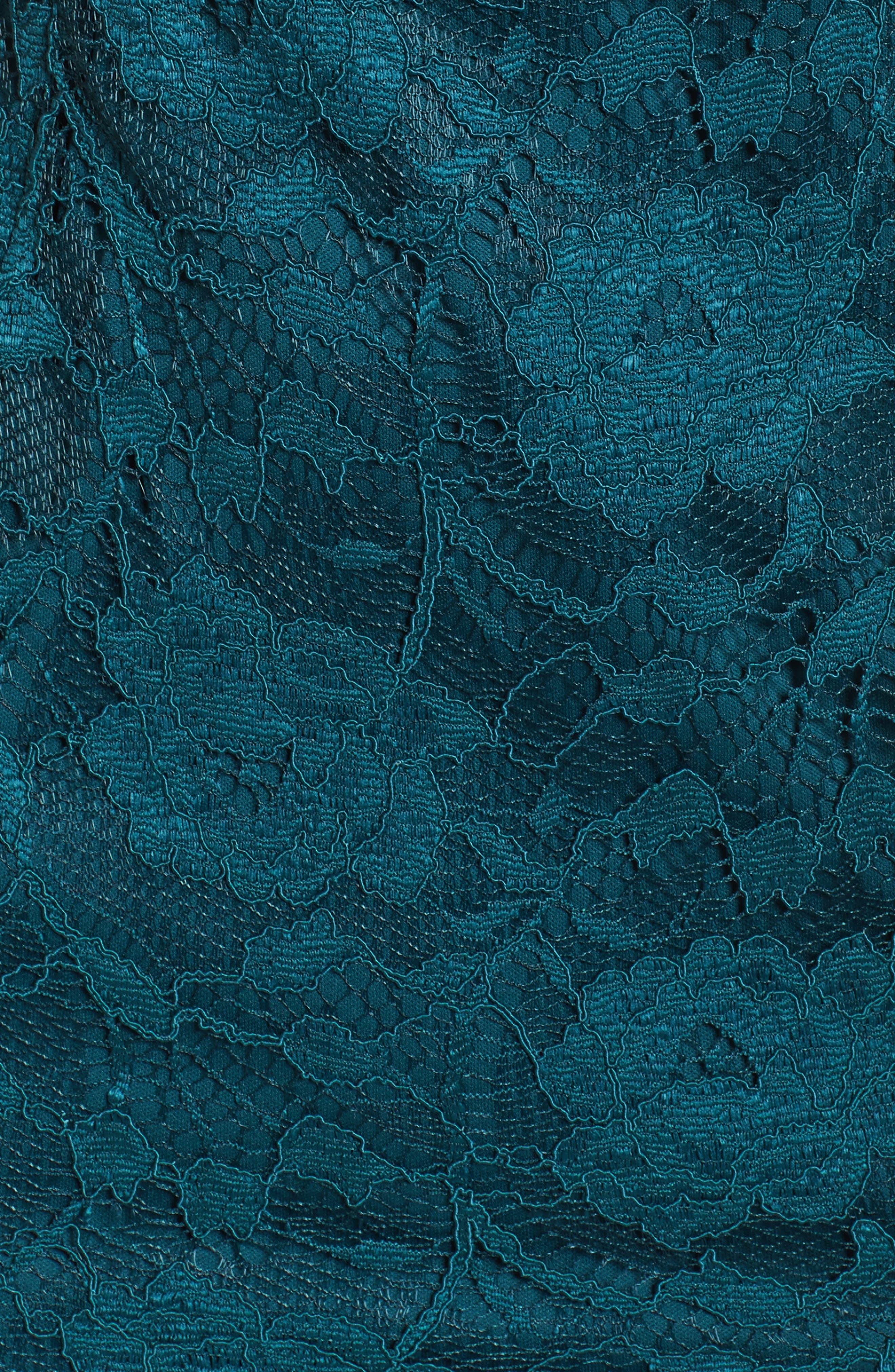 Lace Sheath Dress,                             Alternate thumbnail 5, color,                             Pine
