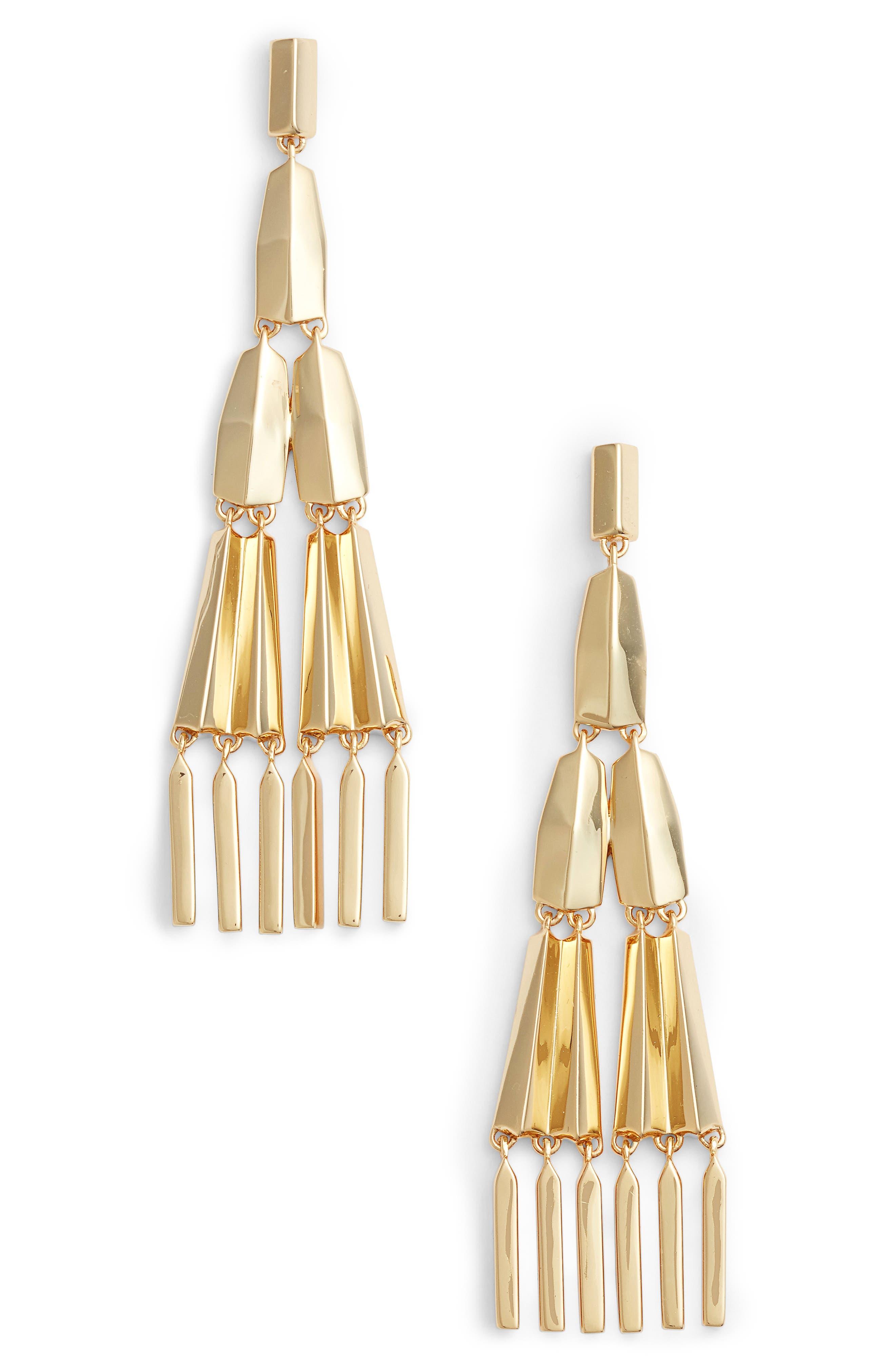 Freddy Chandelier Earrings,                         Main,                         color, Gold