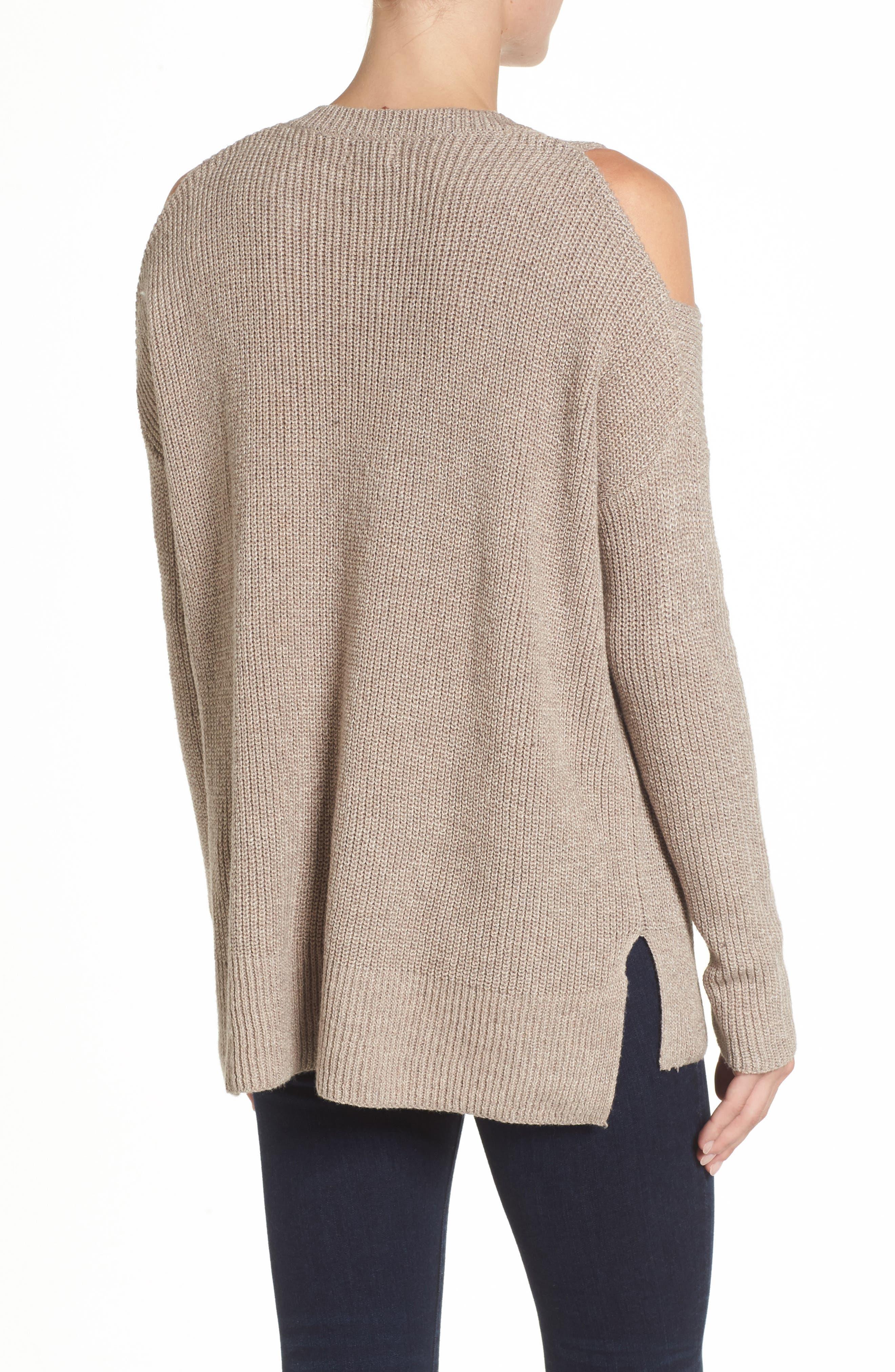 Alternate Image 2  - Caslon® Cold Shoulder Tunic Sweater