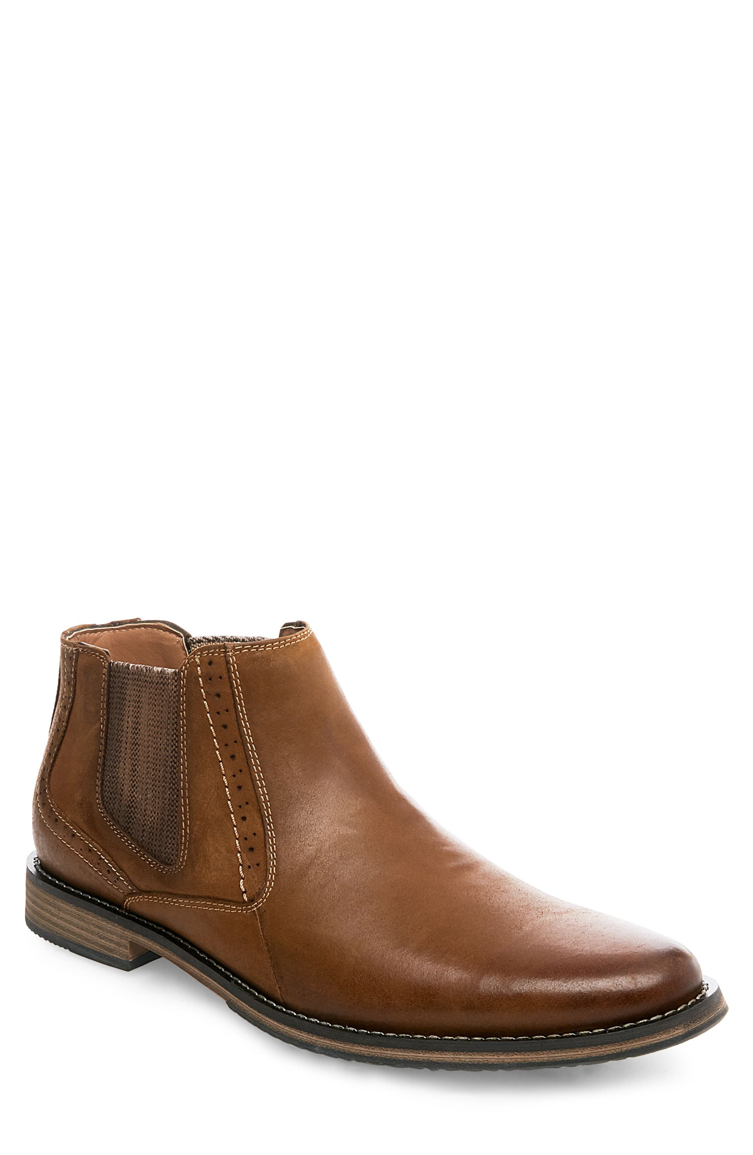 Paxton Chelsea Boot,                         Main,                         color, Camel Leather
