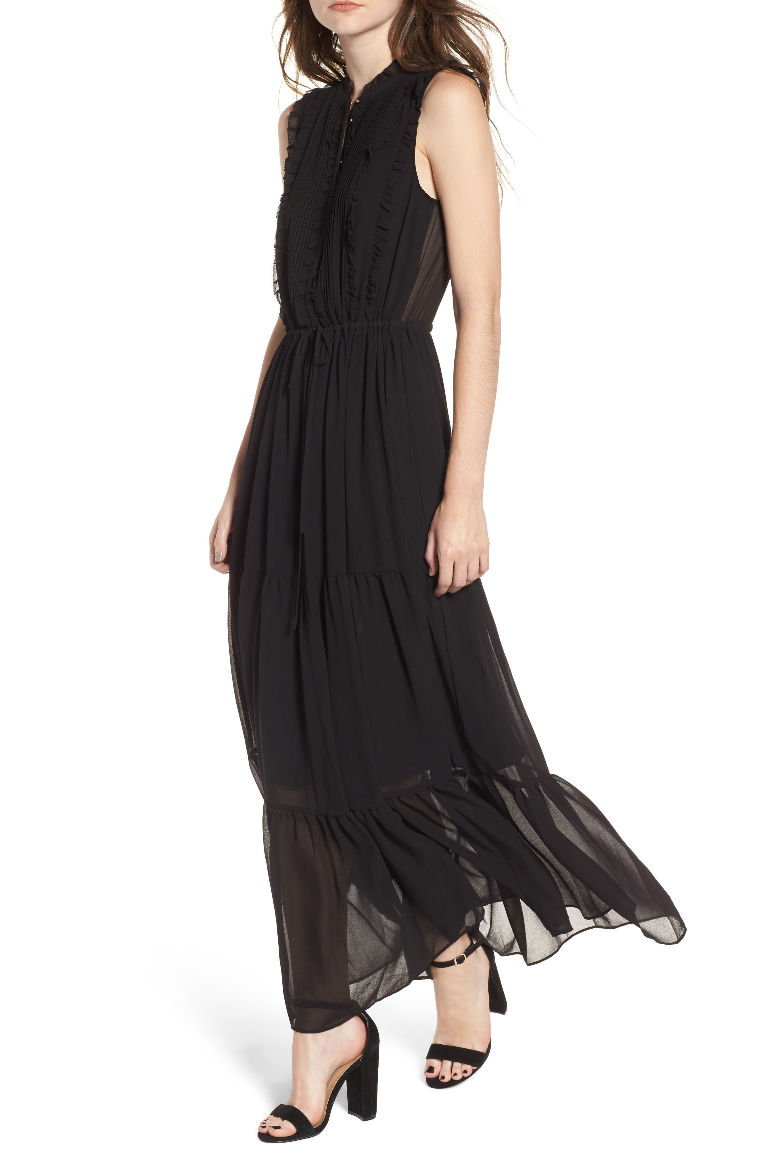 Ami Maxi Dress,                             Main thumbnail 1, color,                             Black