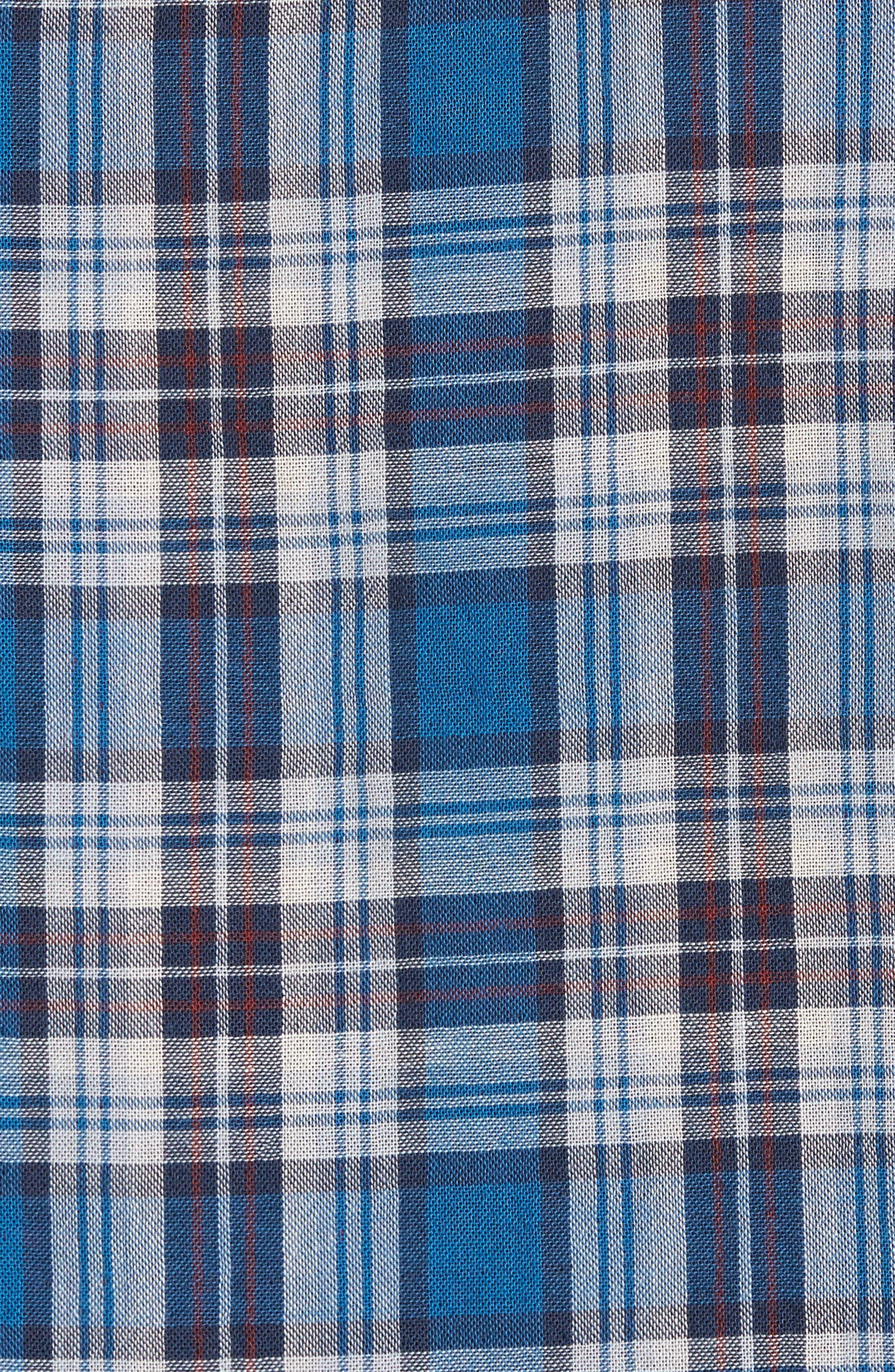 Alternate Image 5  - Nordstrom Men's Shop Workwear Duofold Plaid Sport Shirt