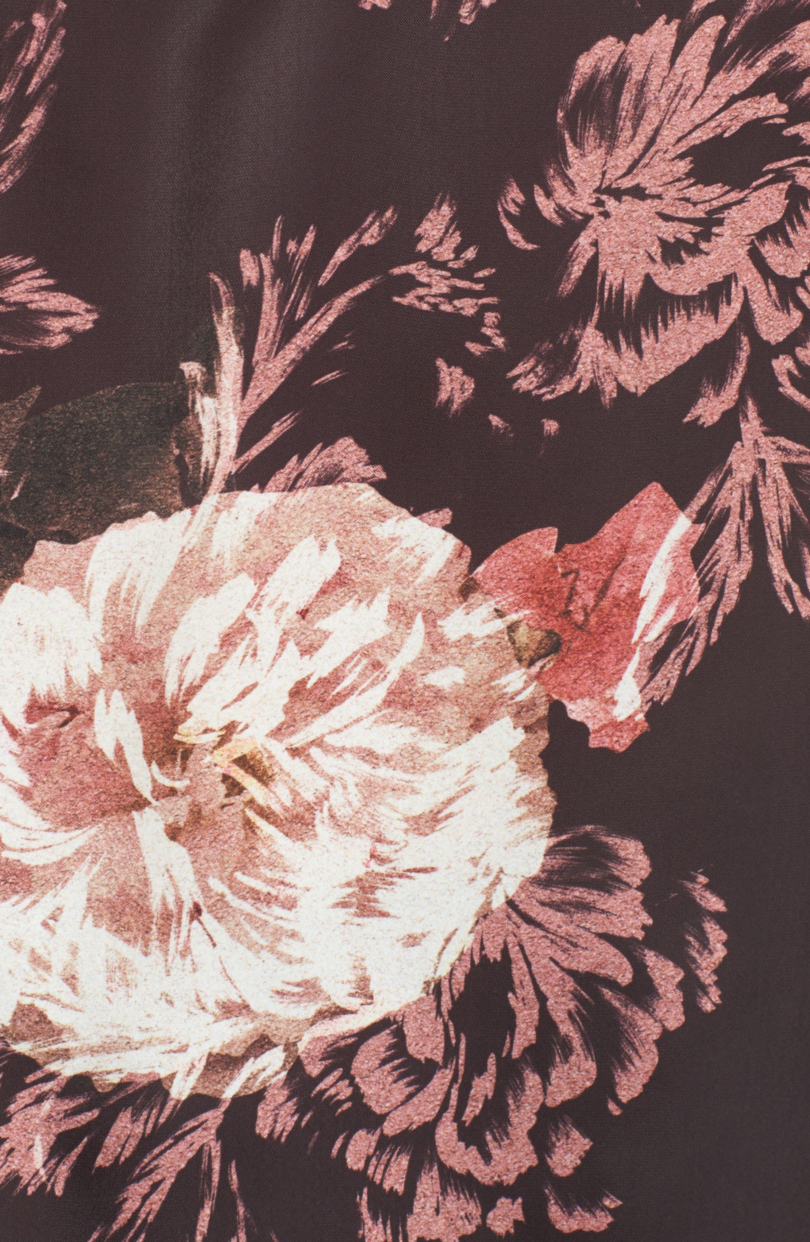Marnie Victorian Floral Cold Shoulder Top,                             Alternate thumbnail 5, color,                             Victorian Floral