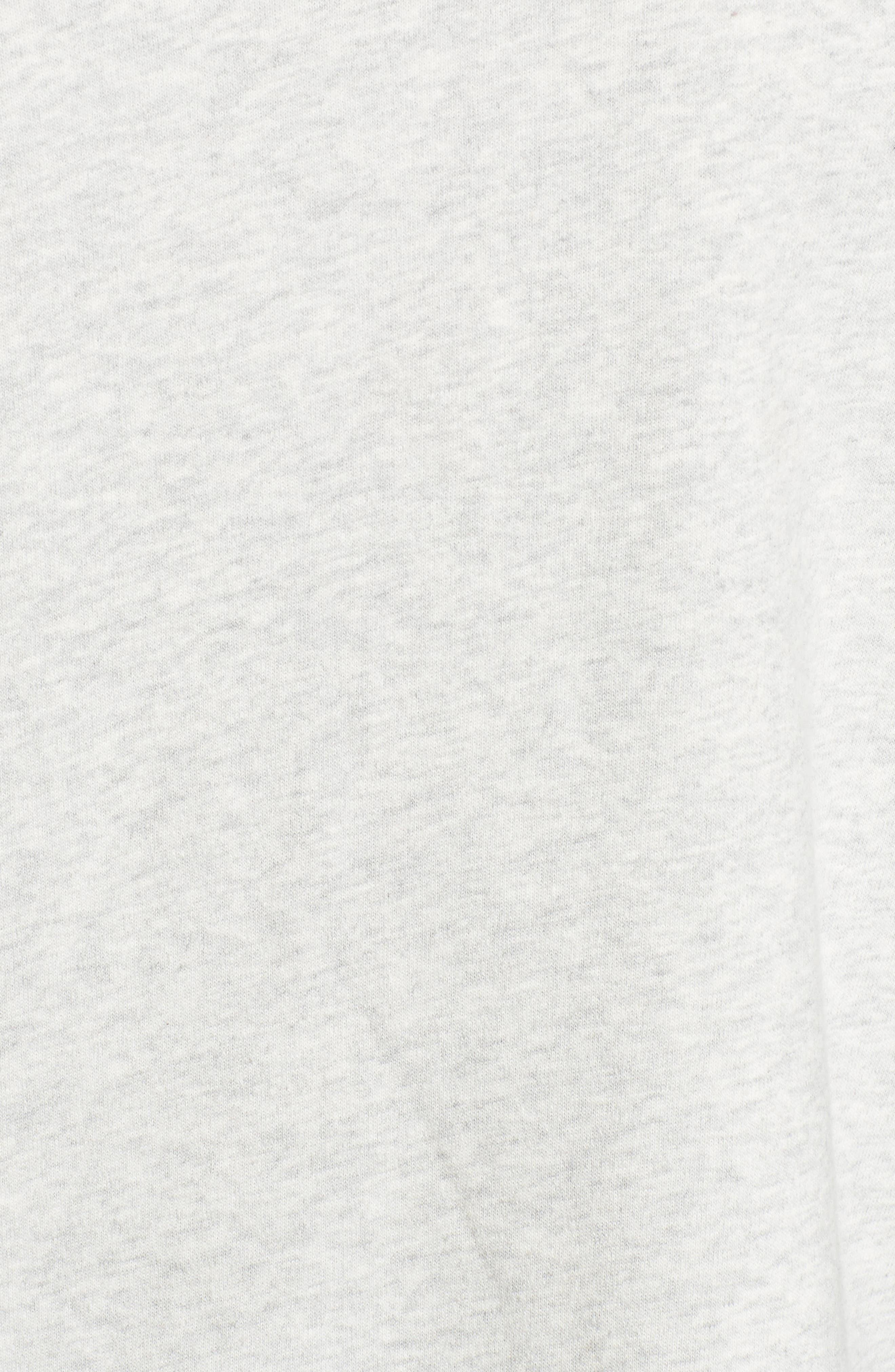Embellished Bell Sleeve Sweatshirt,                             Alternate thumbnail 5, color,                             Grey Light Heather