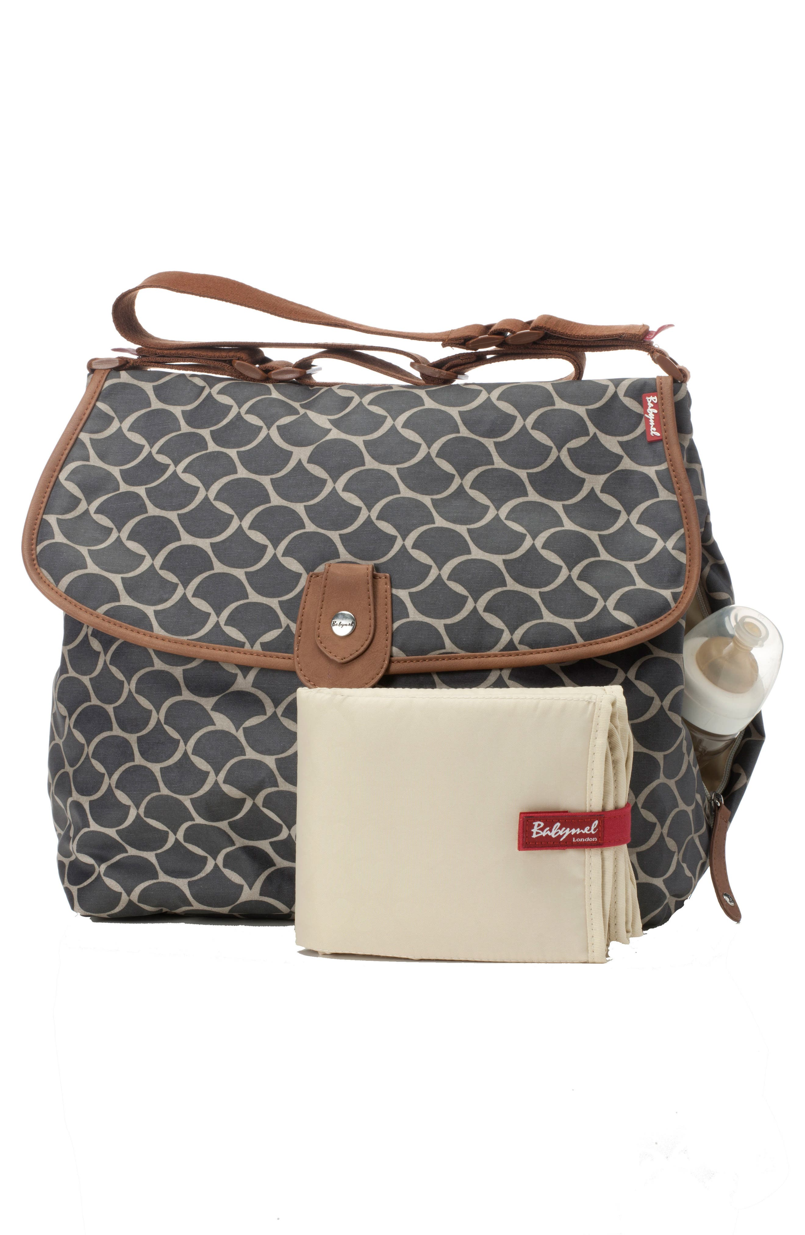Wave Diaper Satchel,                             Alternate thumbnail 2, color,                             Elephant Grey
