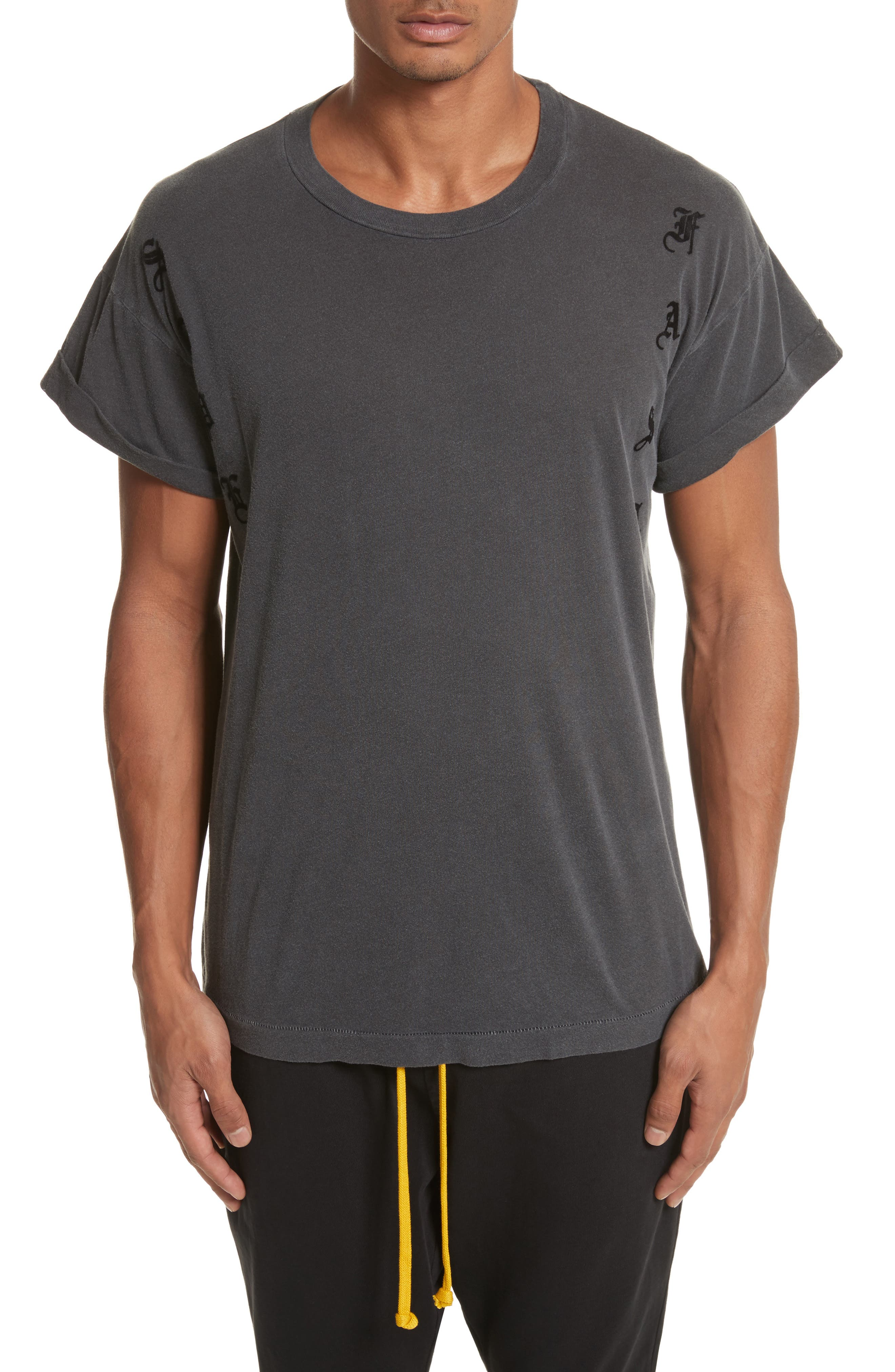 Abassi Embroidered T-Shirt,                             Main thumbnail 1, color,                             Blk Pigment