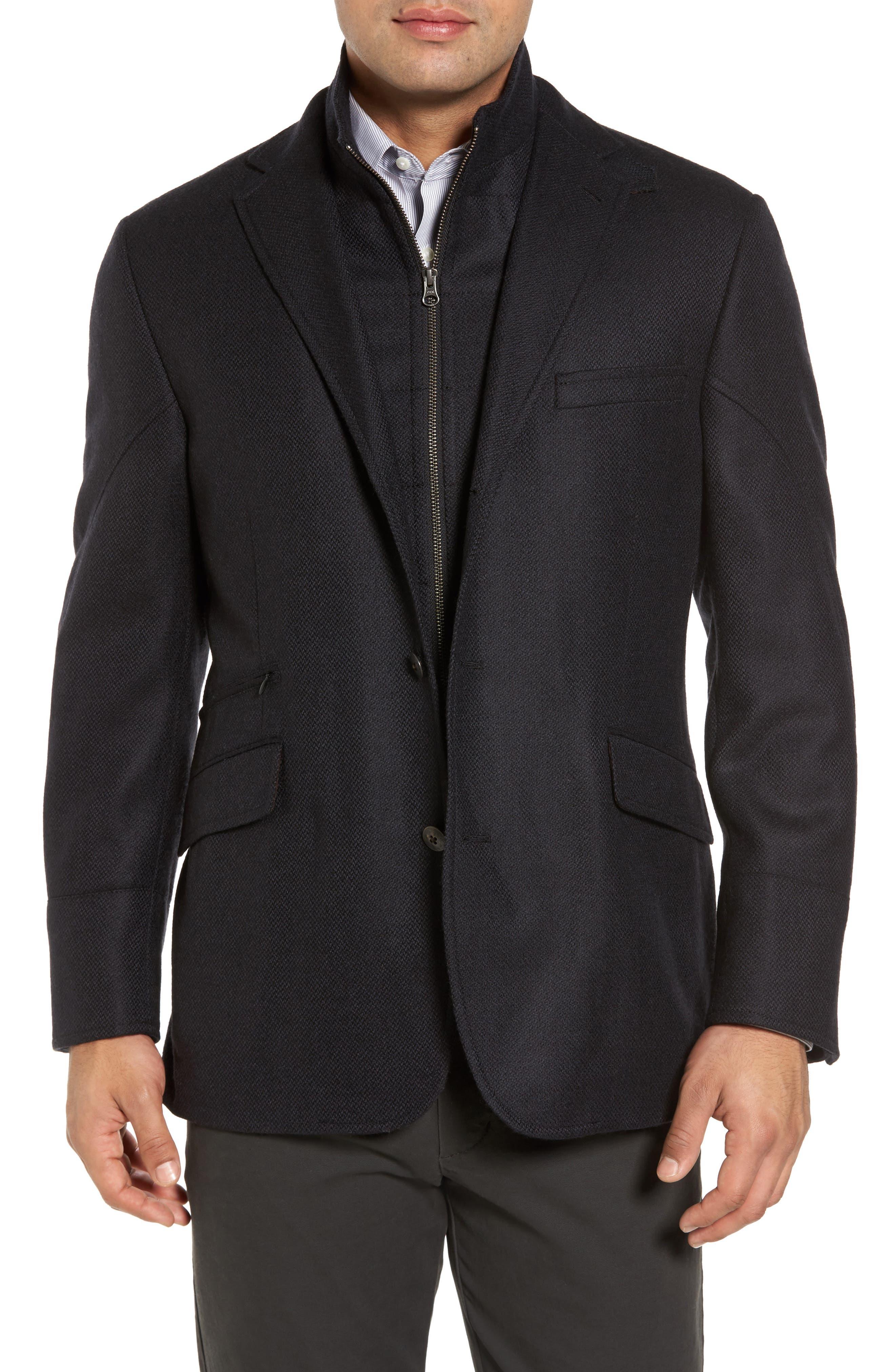 Ritchie Aim Hybrid Classic Fit Wool & Cashmere Sport Coat,                         Main,                         color, Black