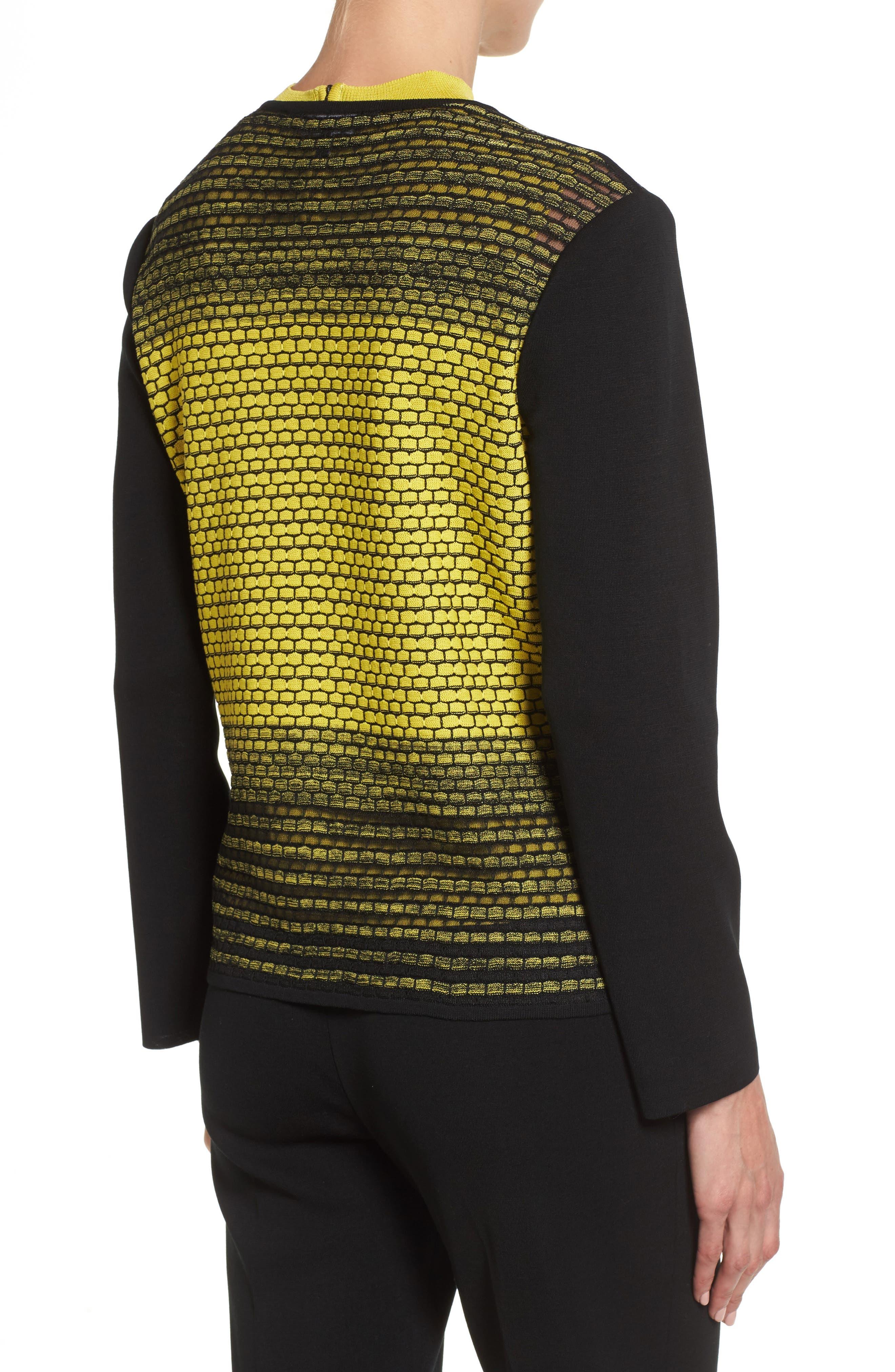 Alternate Image 2  - Ming Wang Colorblock Knit Jacket