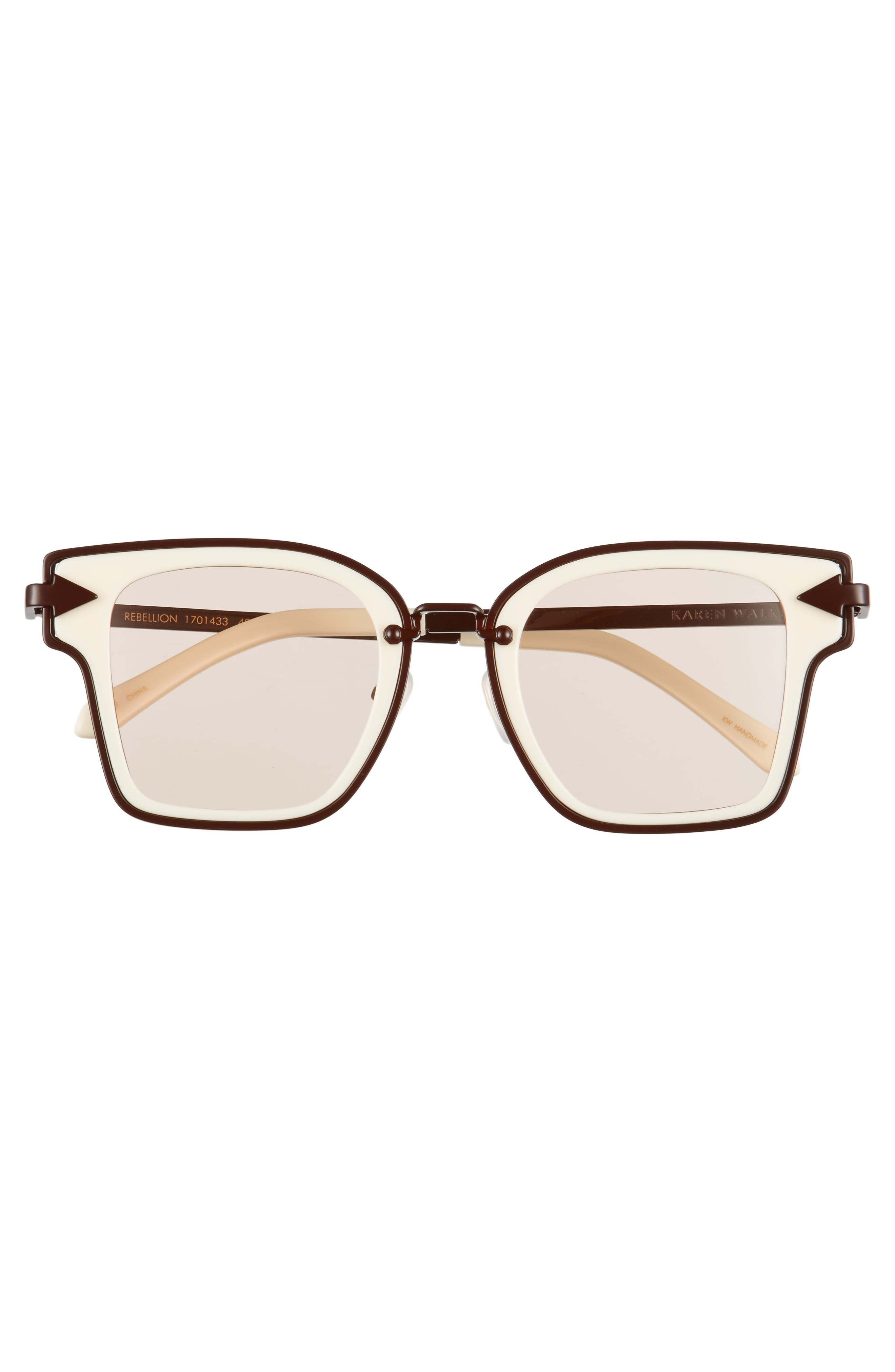 Rebellion 49mm Sunglasses,                             Alternate thumbnail 4, color,                             Ecru