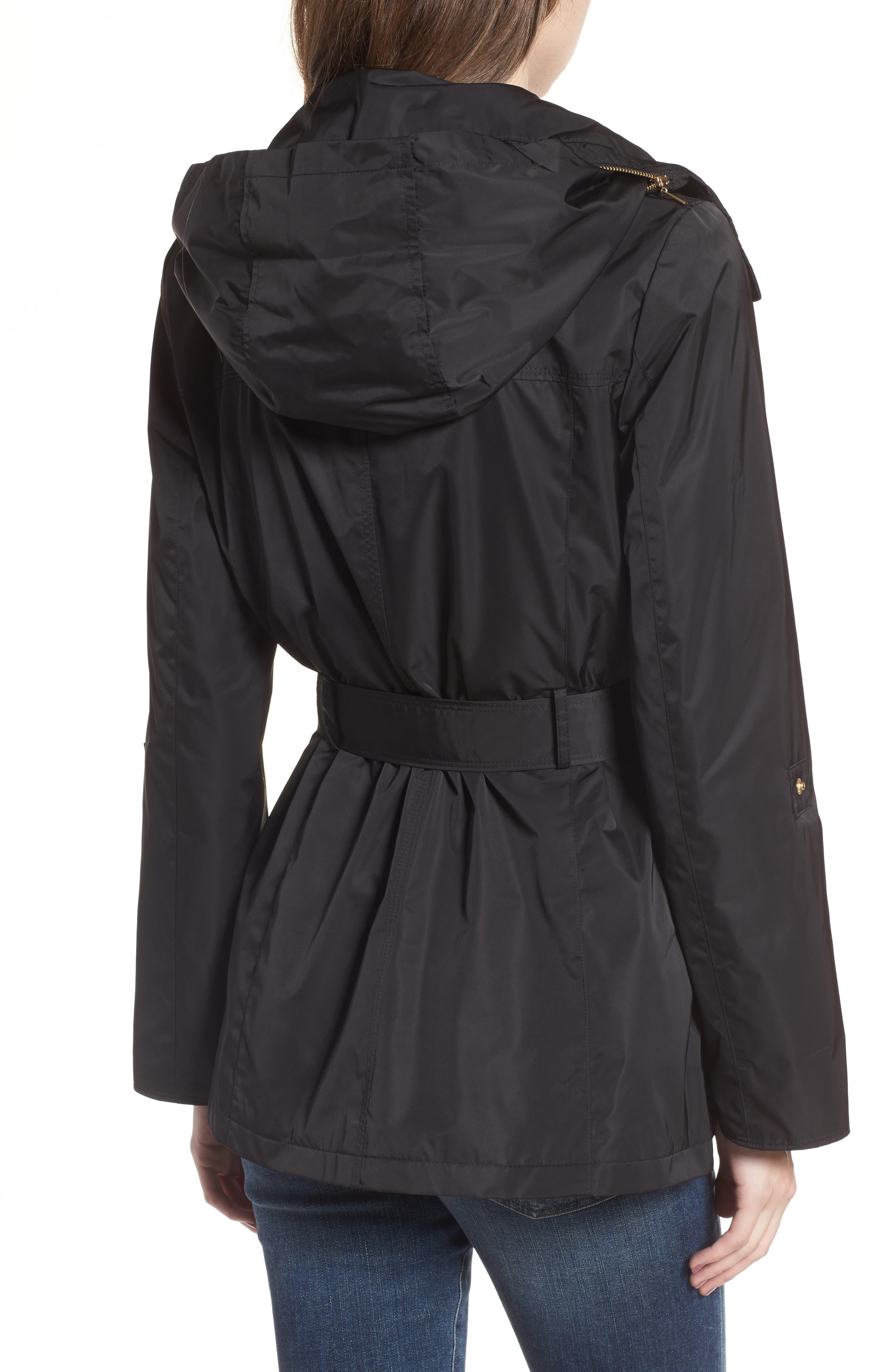 Alternate Image 2  - Ellen Tracy Techno Short Trench Coat (Regular & Petite)