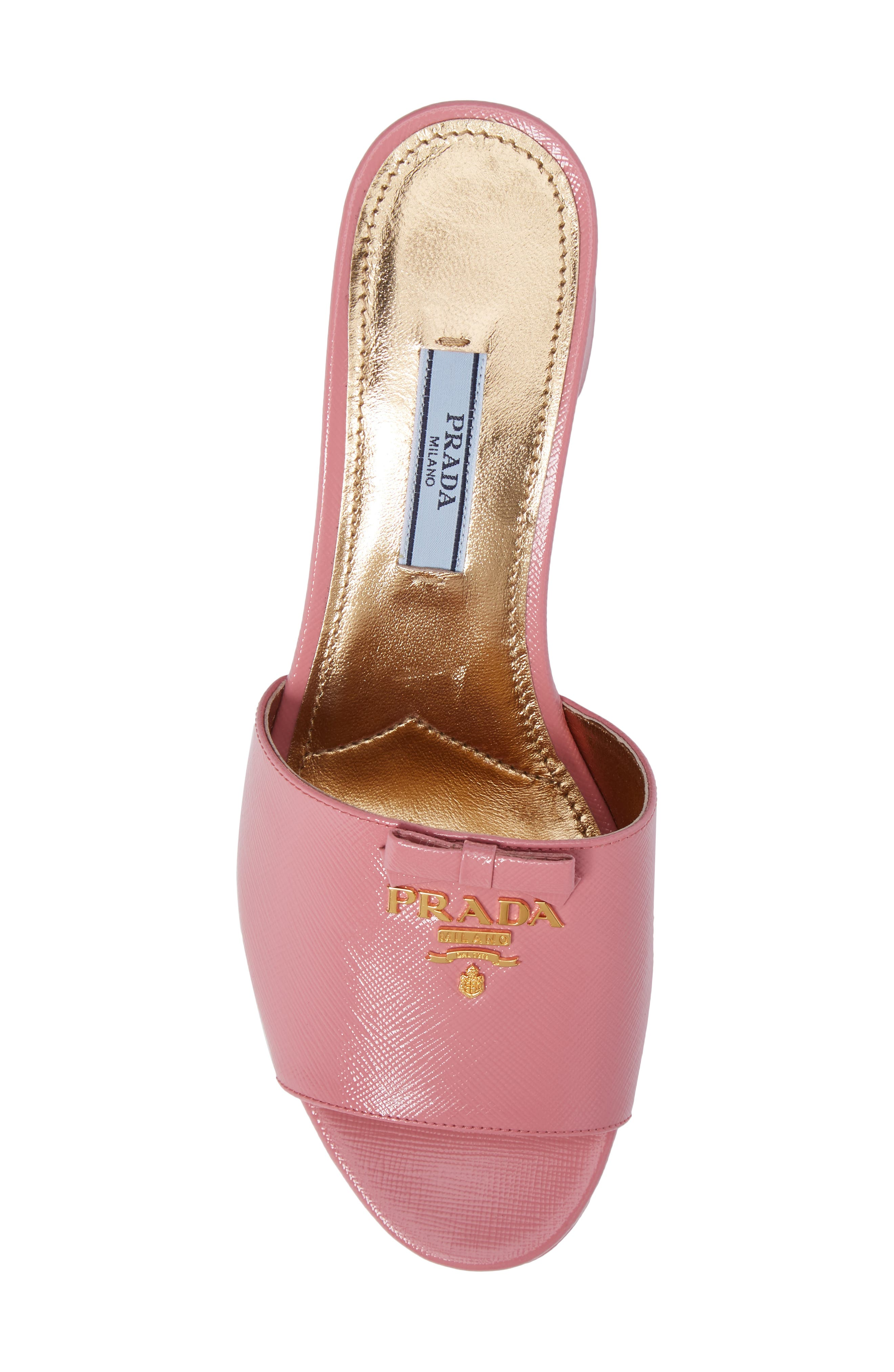 Alternate Image 5  - Prada Logo Block Heel Mule (Women)