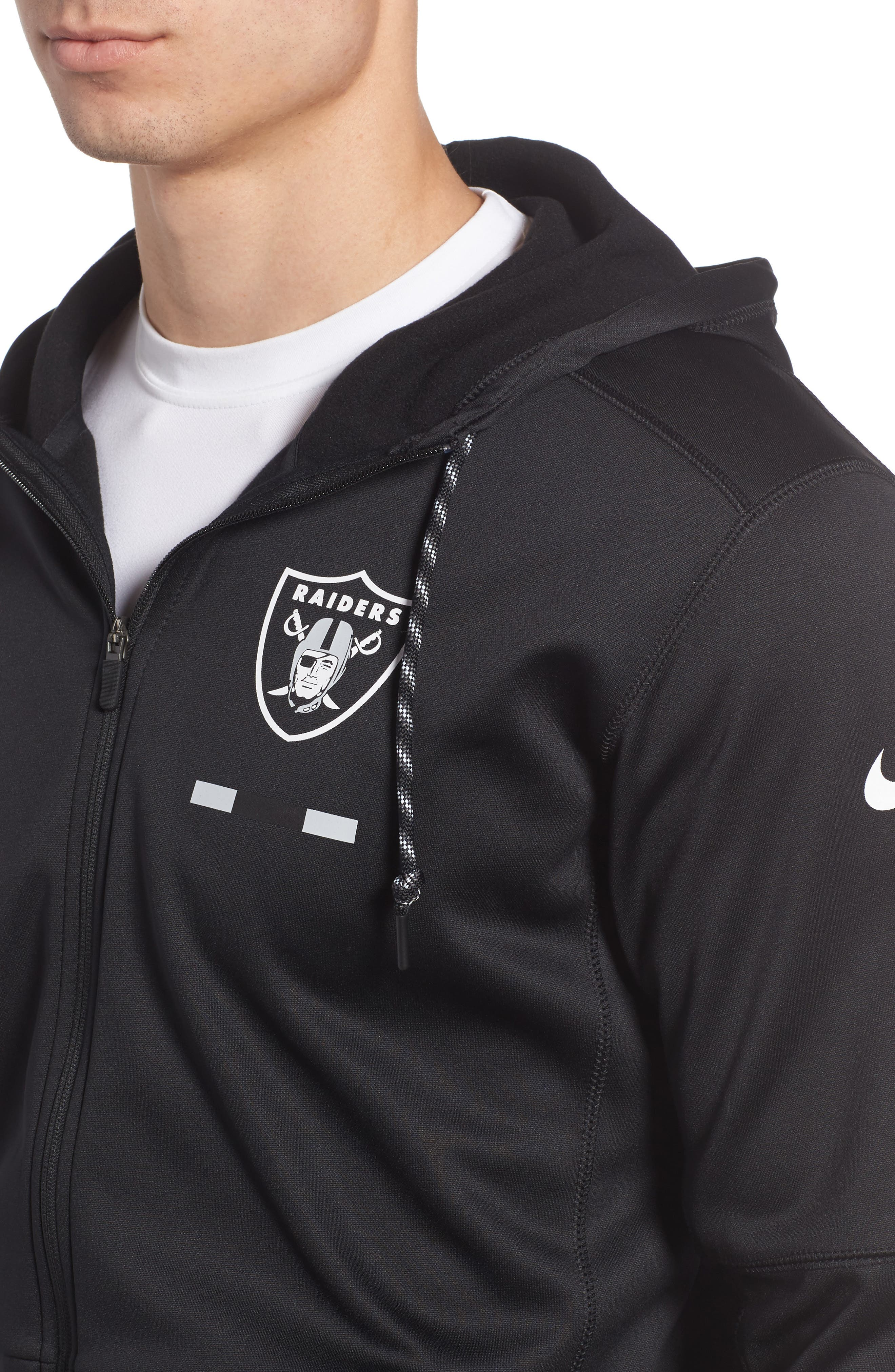 Therma-FIT NFL Graphic Zip Hoodie,                             Alternate thumbnail 3, color,                             Raiders
