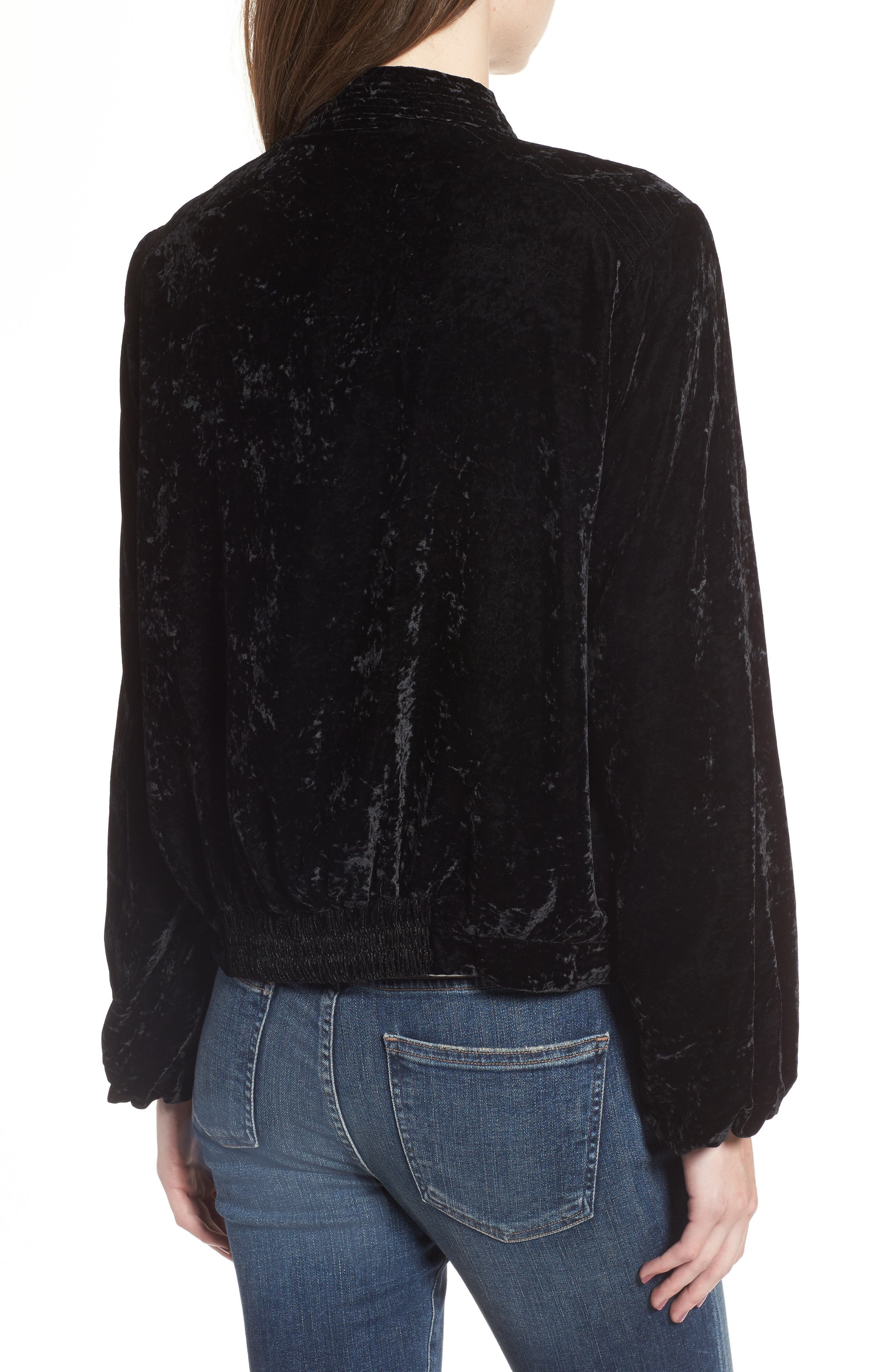 Alternate Image 2  - Splendid Crushed Velvet Bomber Jacket