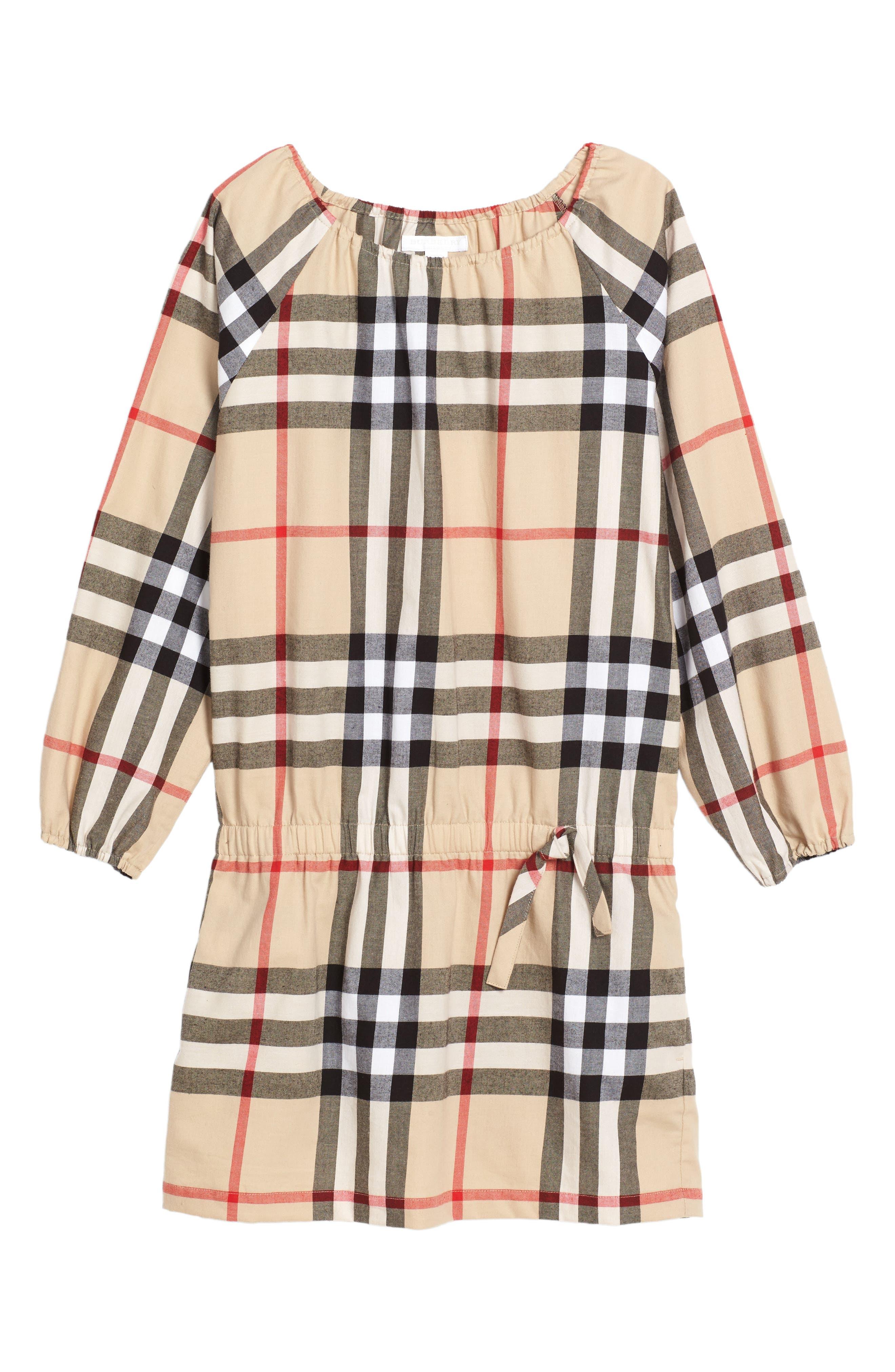 Alternate Image 1 Selected - Burberry Kadyann Check Dress (Little Girls & Big Girls)