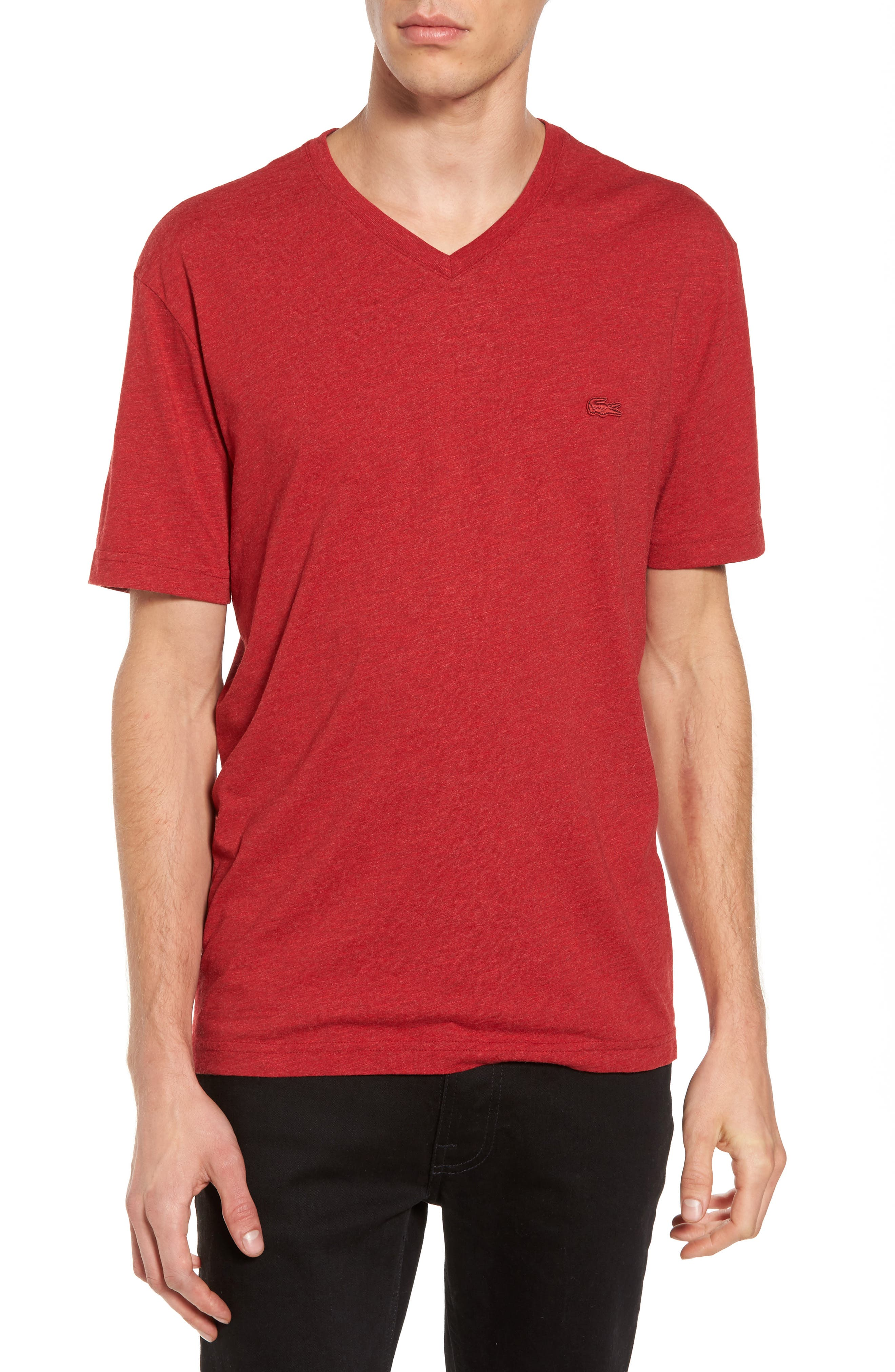 V-Neck T-Shirt,                         Main,                         color, Coccinelle Dyed
