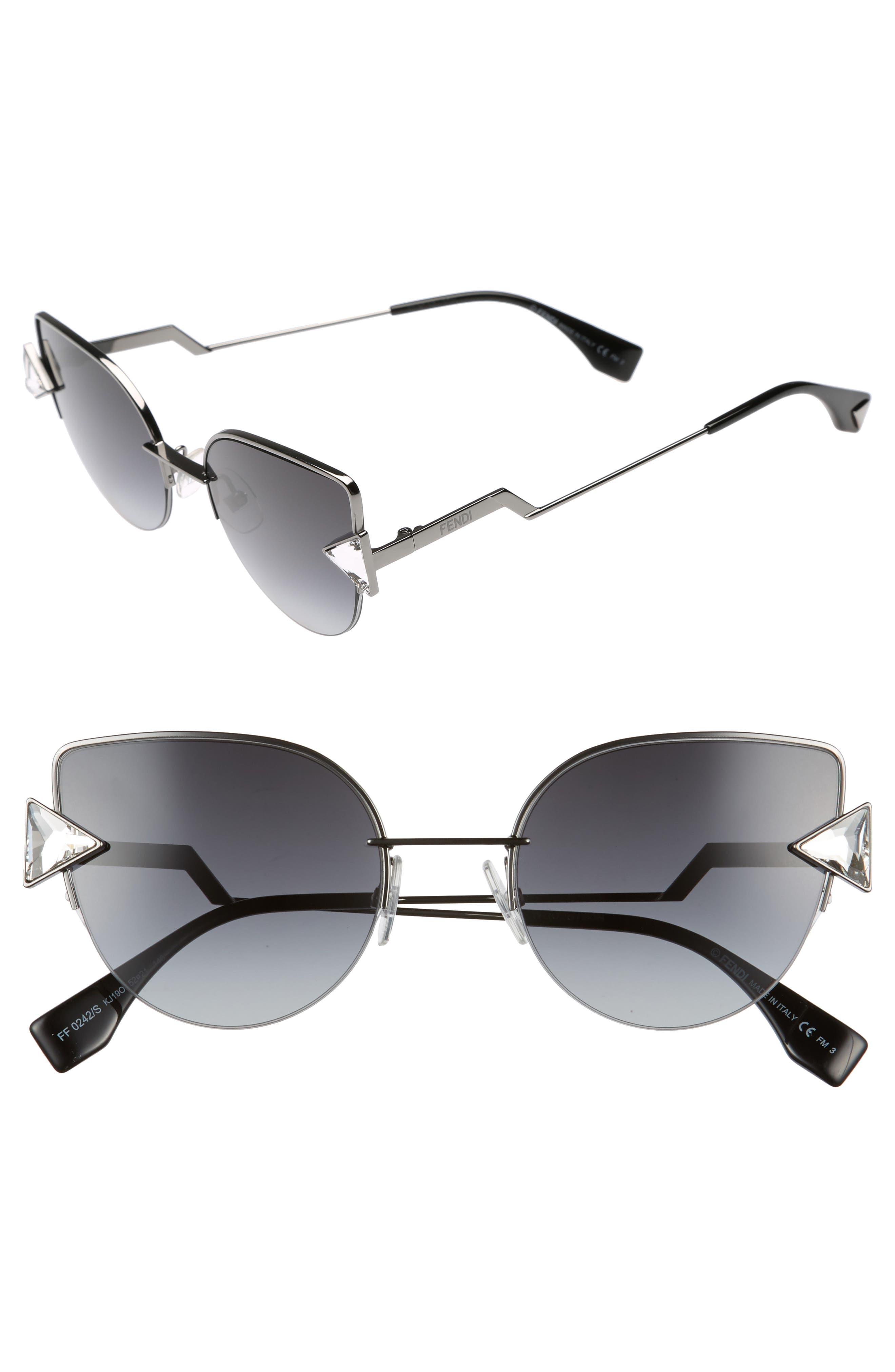 Main Image - Fendi Rainbow 52mm Semi-Rimless Sunglasses