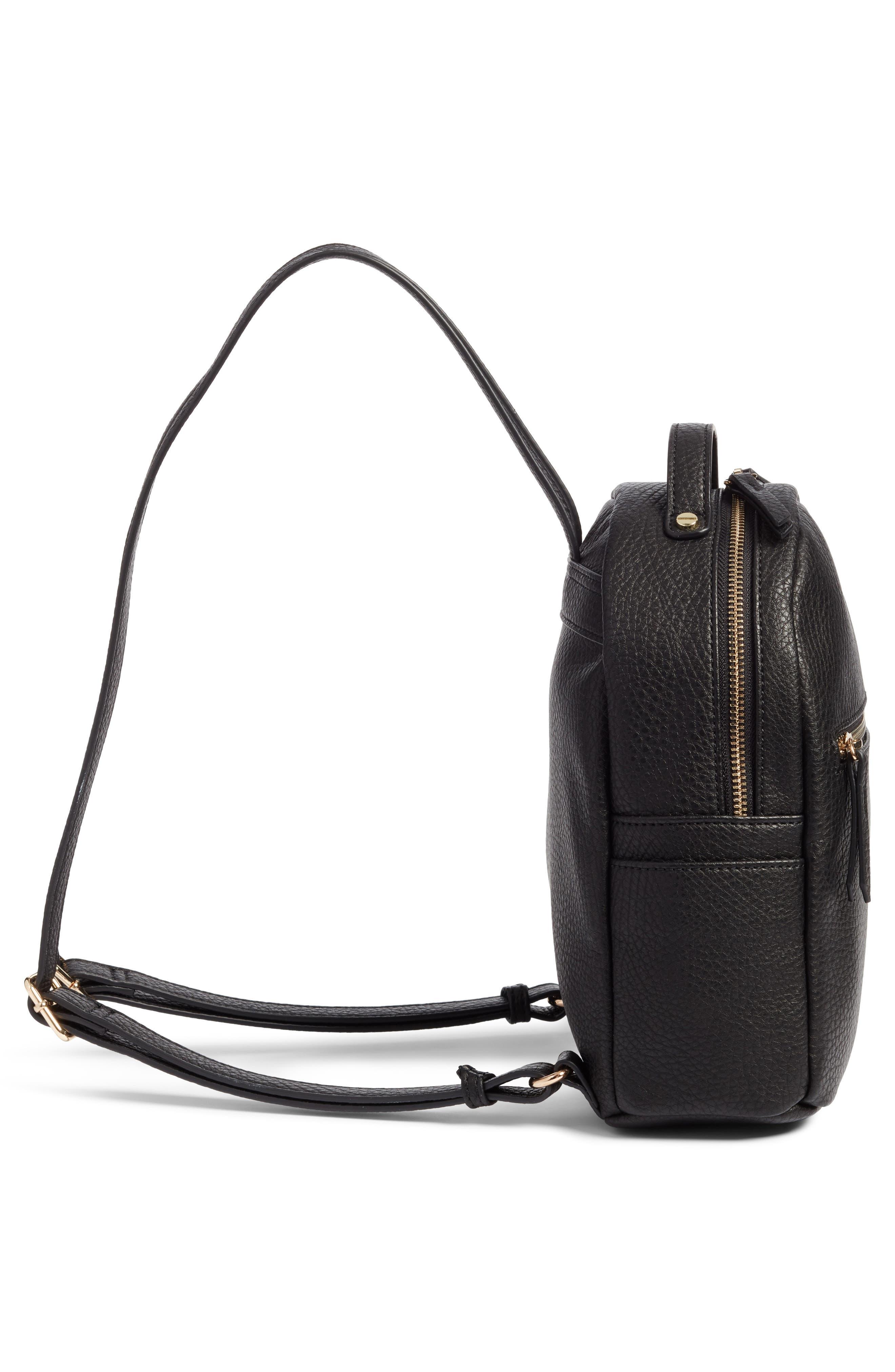 Alternate Image 5  - Mali + Lili Faux Leather Backpack