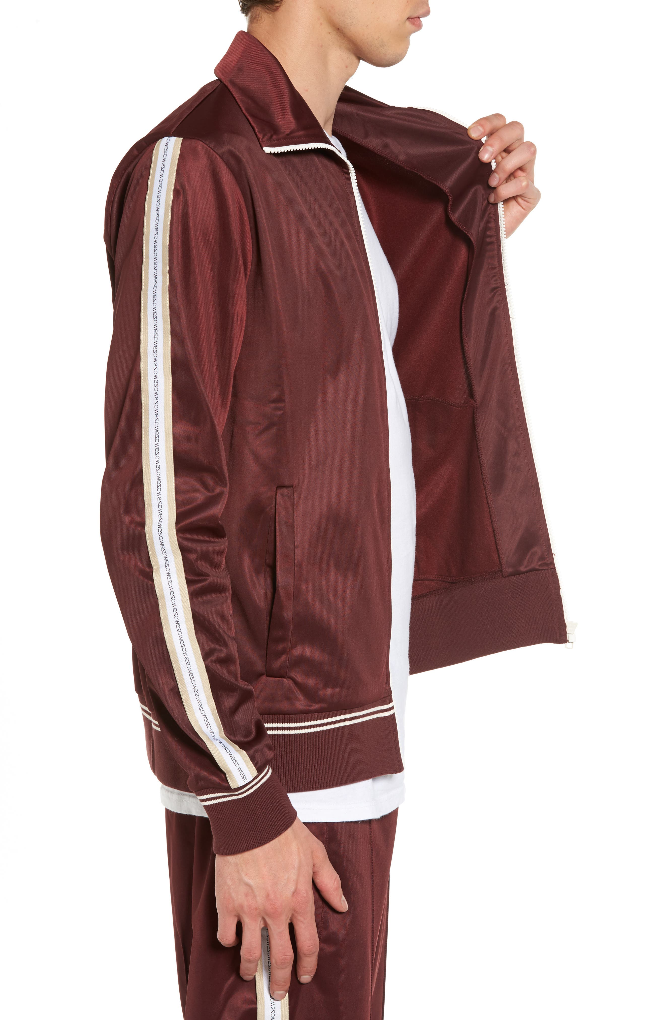 Marcus Track Jacket,                             Alternate thumbnail 3, color,                             Red Port